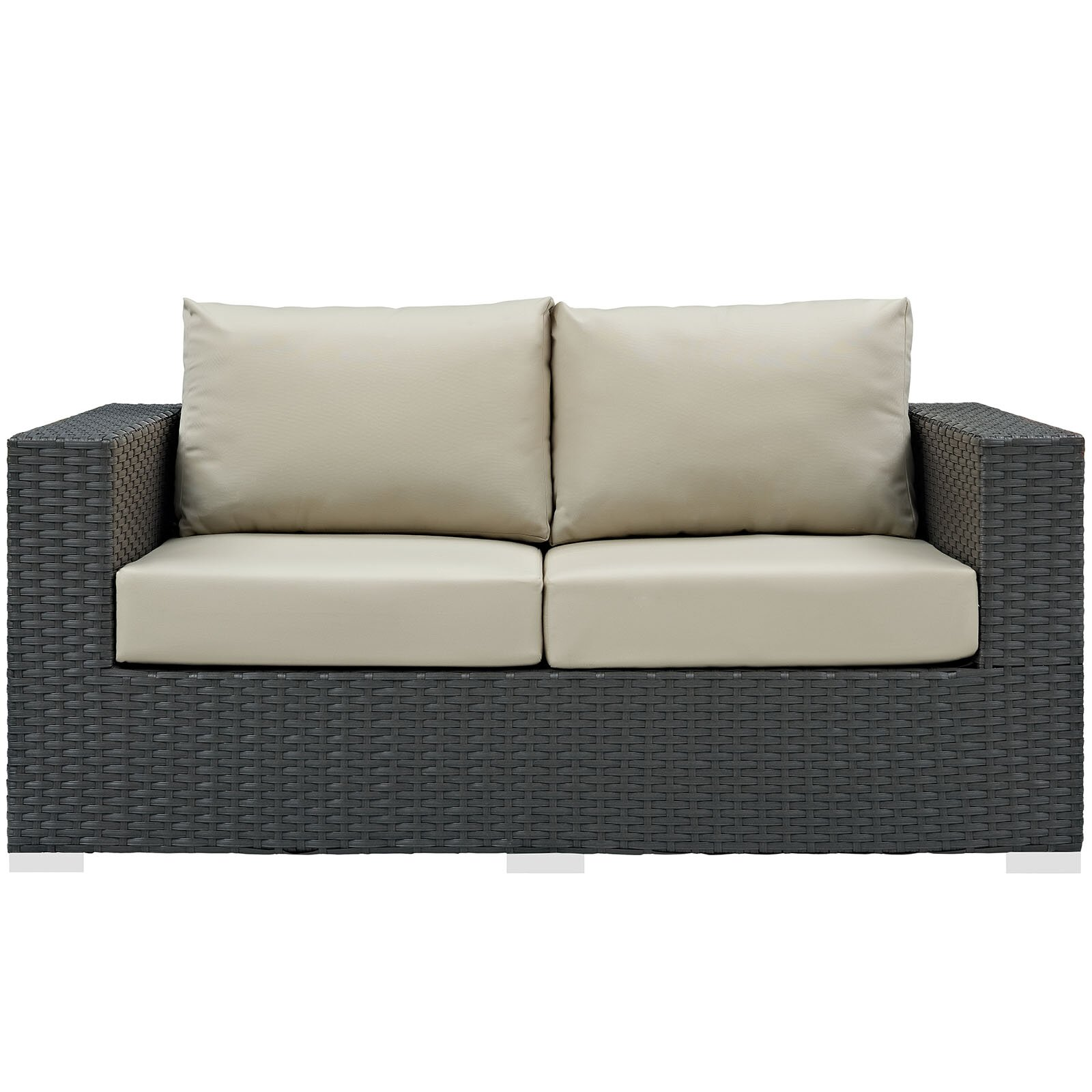 Modway Sojourn Loveseat With Cushions Wayfair