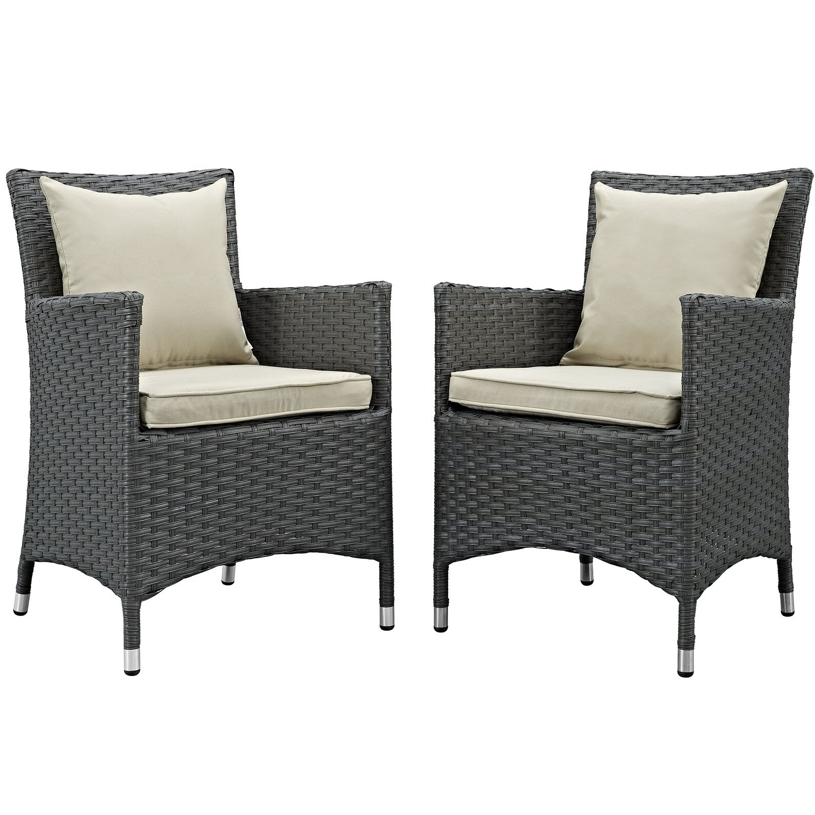 modway sojourn dining arm chair with cushion wayfair. Black Bedroom Furniture Sets. Home Design Ideas