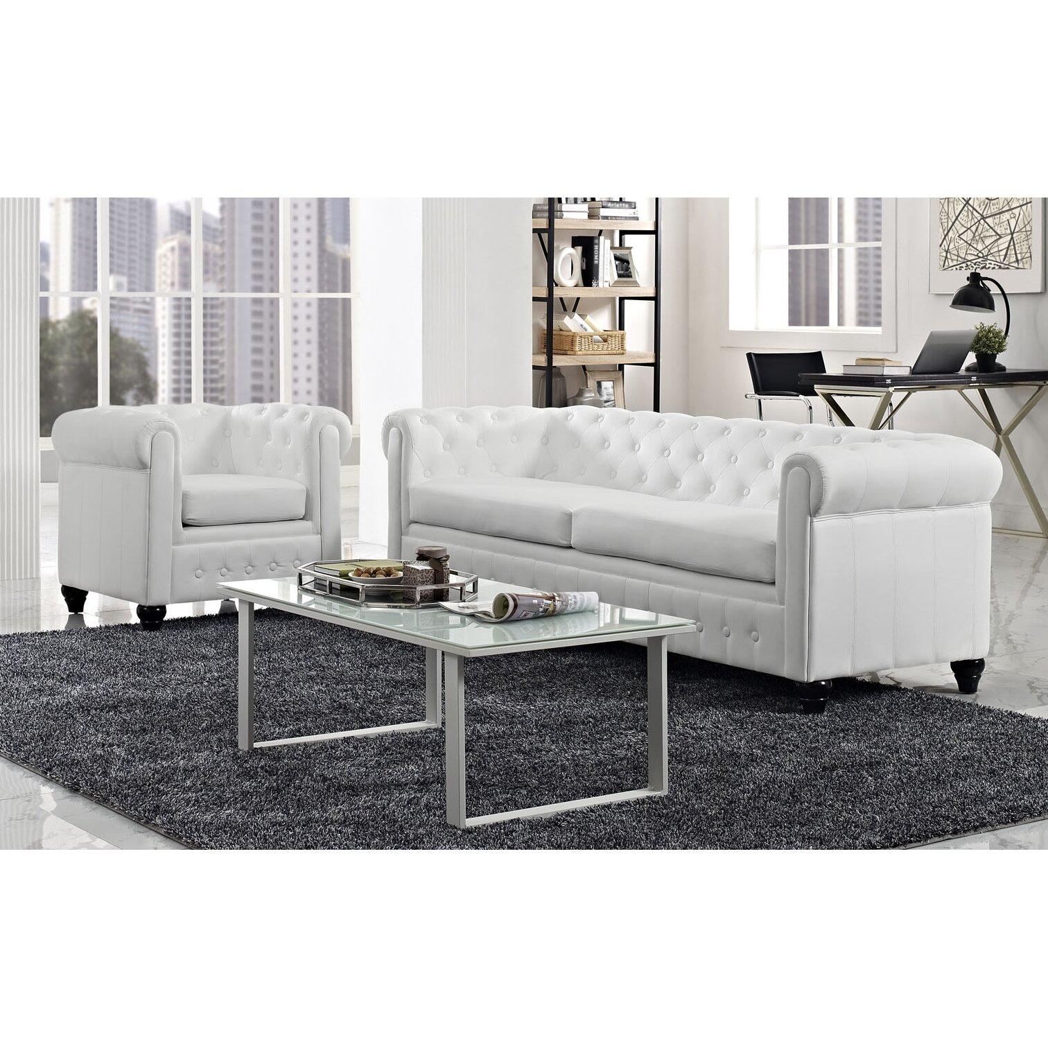 modway earl 2 piece living room set wayfair