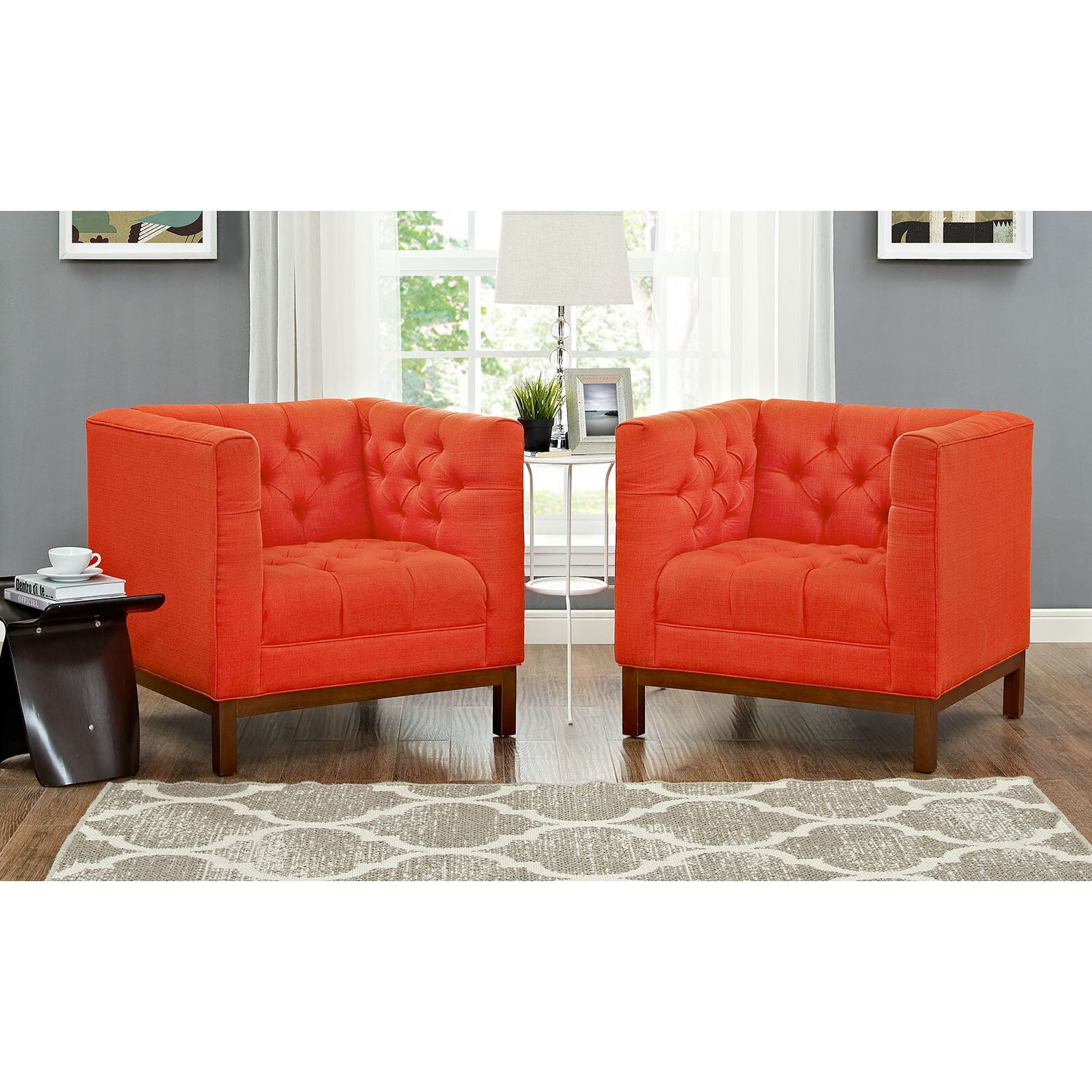 Modway Panache Fabric Living Room Armchair | Wayfair