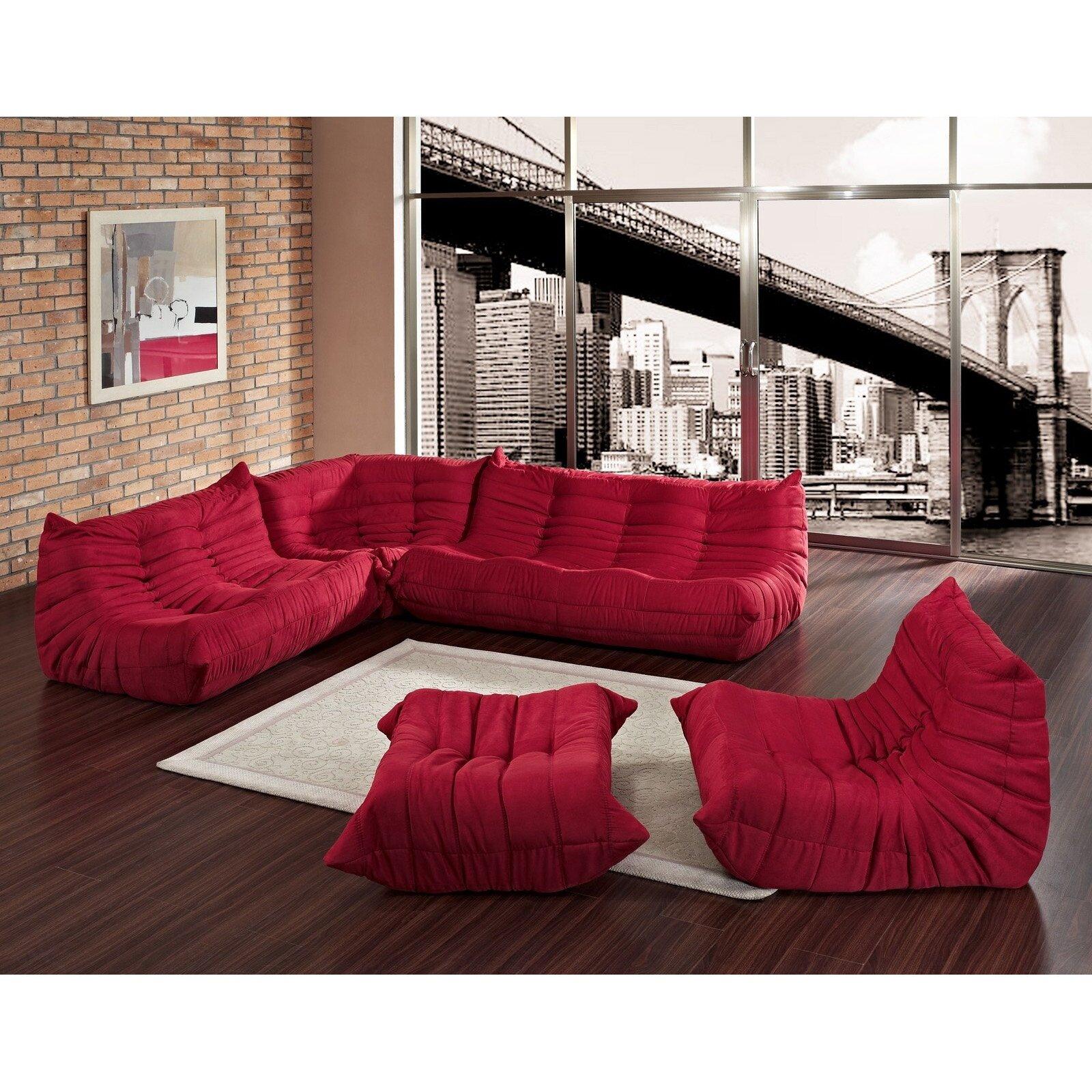 modway deluge sofa set reviews wayfair. Black Bedroom Furniture Sets. Home Design Ideas