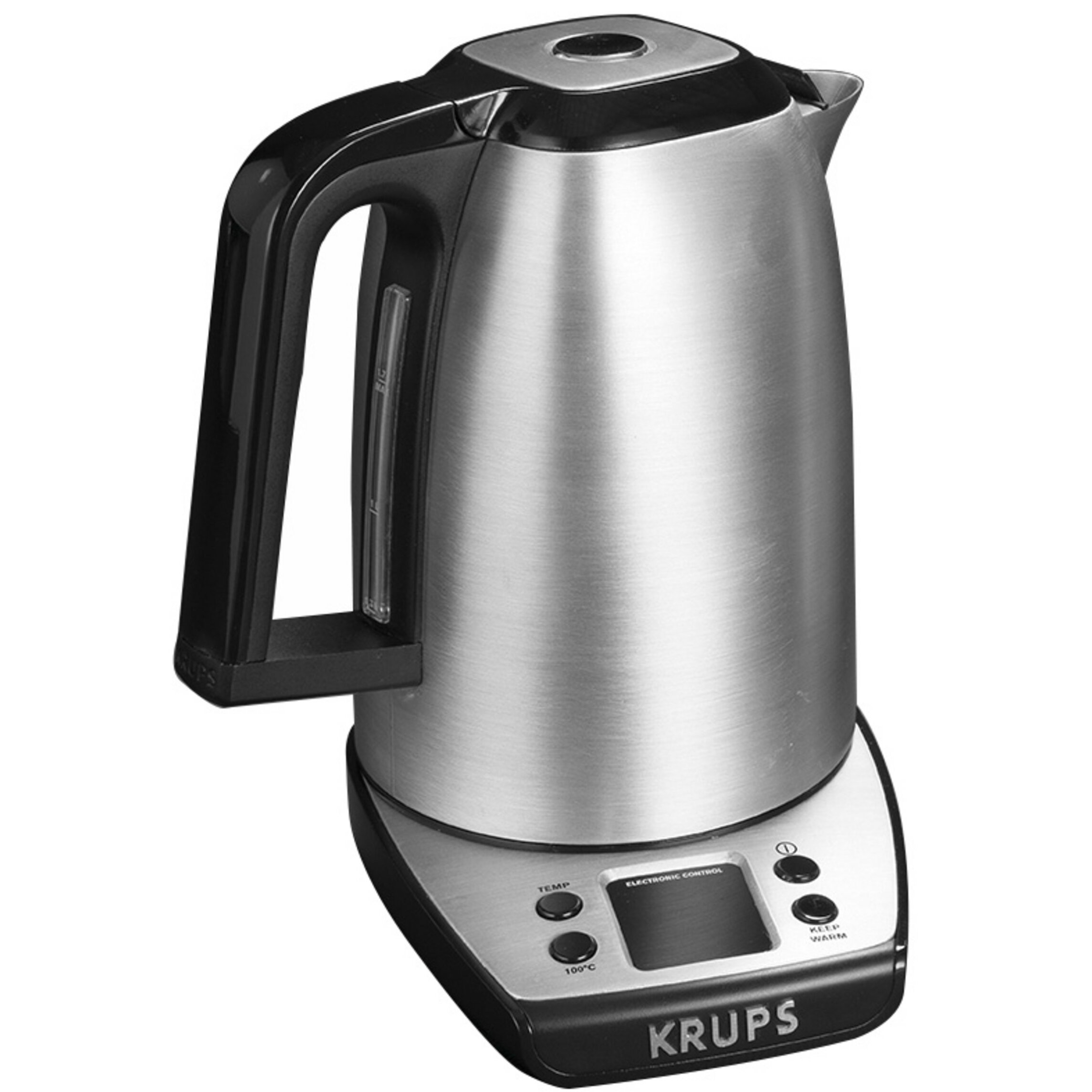 Stainless Electric Kettle ~ Krups savoy qt stainless steel electric tea kettle in