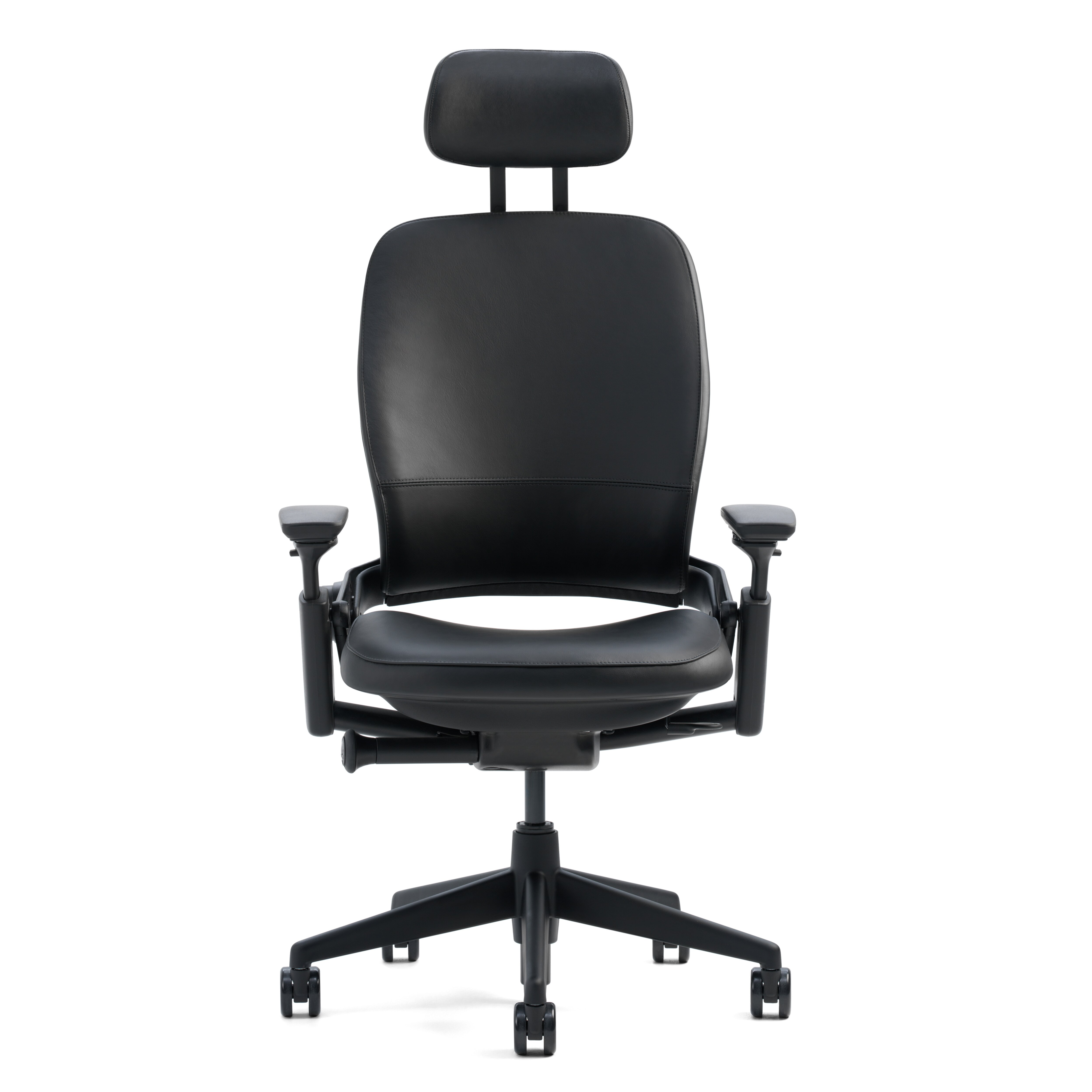 Steelcase Leap High Back Leather Desk Chair & Reviews