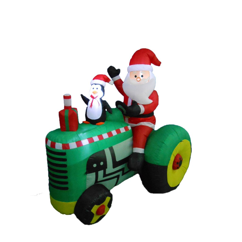 Bzb Goods Santa On Tractor Christmas Decoration Reviews