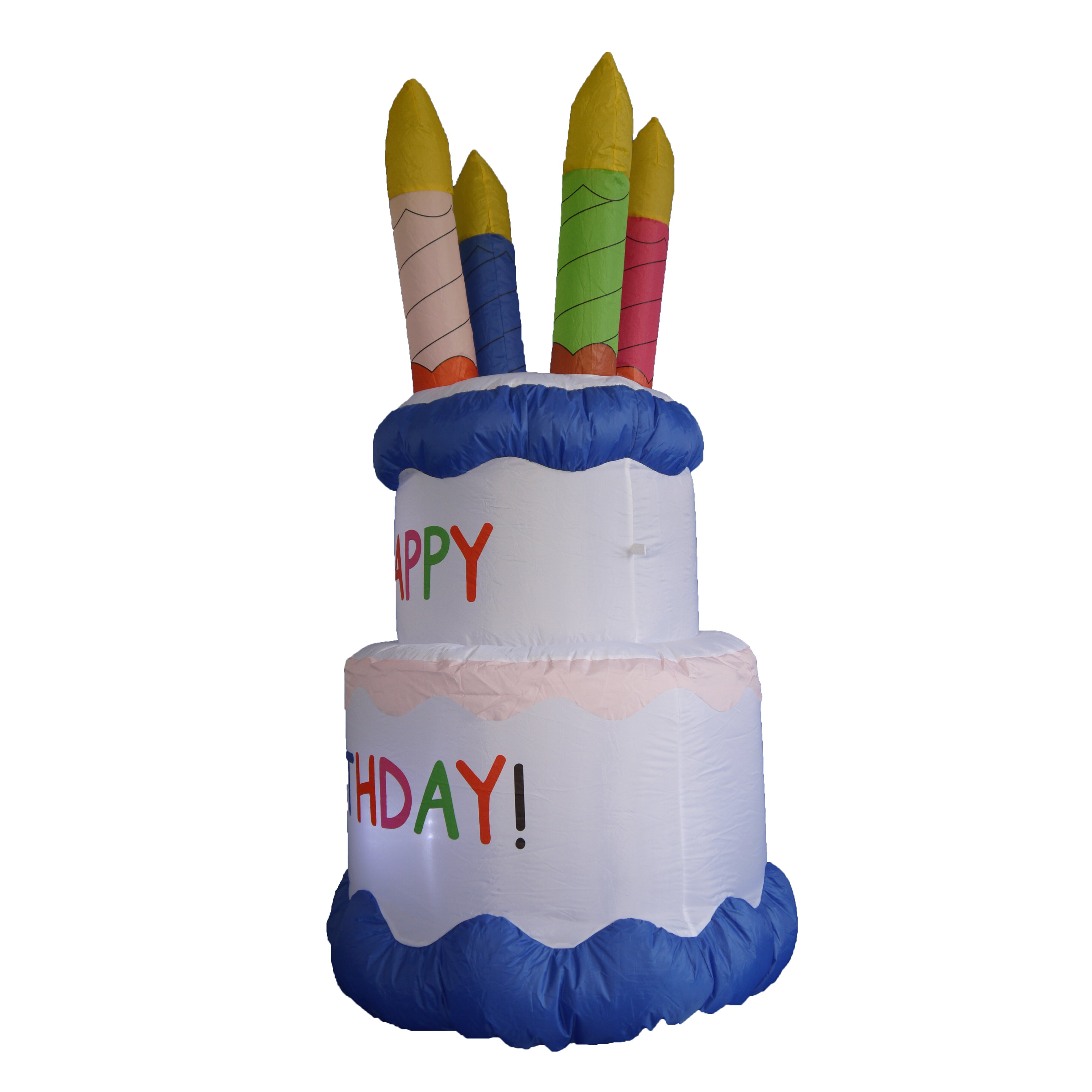 BZB Goods Inflatable Cake With Candles Happy Birthday
