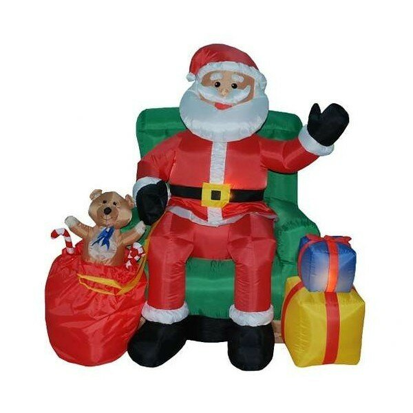 Inflatable Kids Birthday Chair: BZB Goods Christmas Inflatable Animated Santa Claus In
