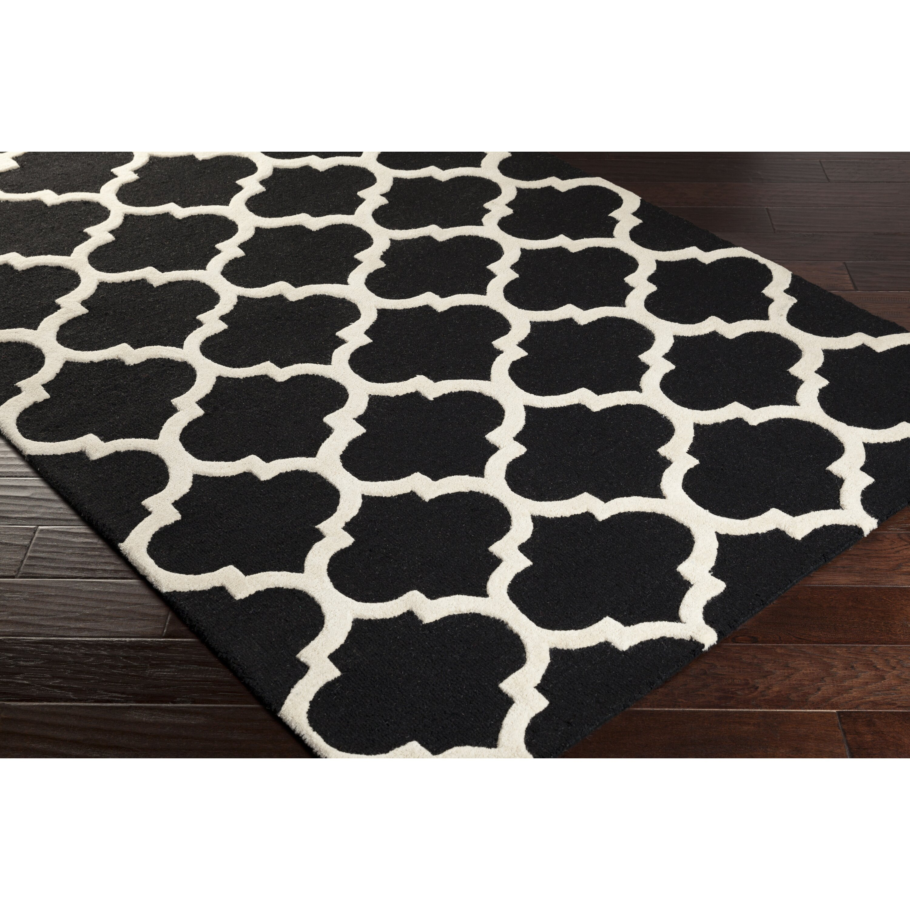 Black And White Geometric Kitchen Rug: Artistic Weavers Pollack True Black And Ivory White