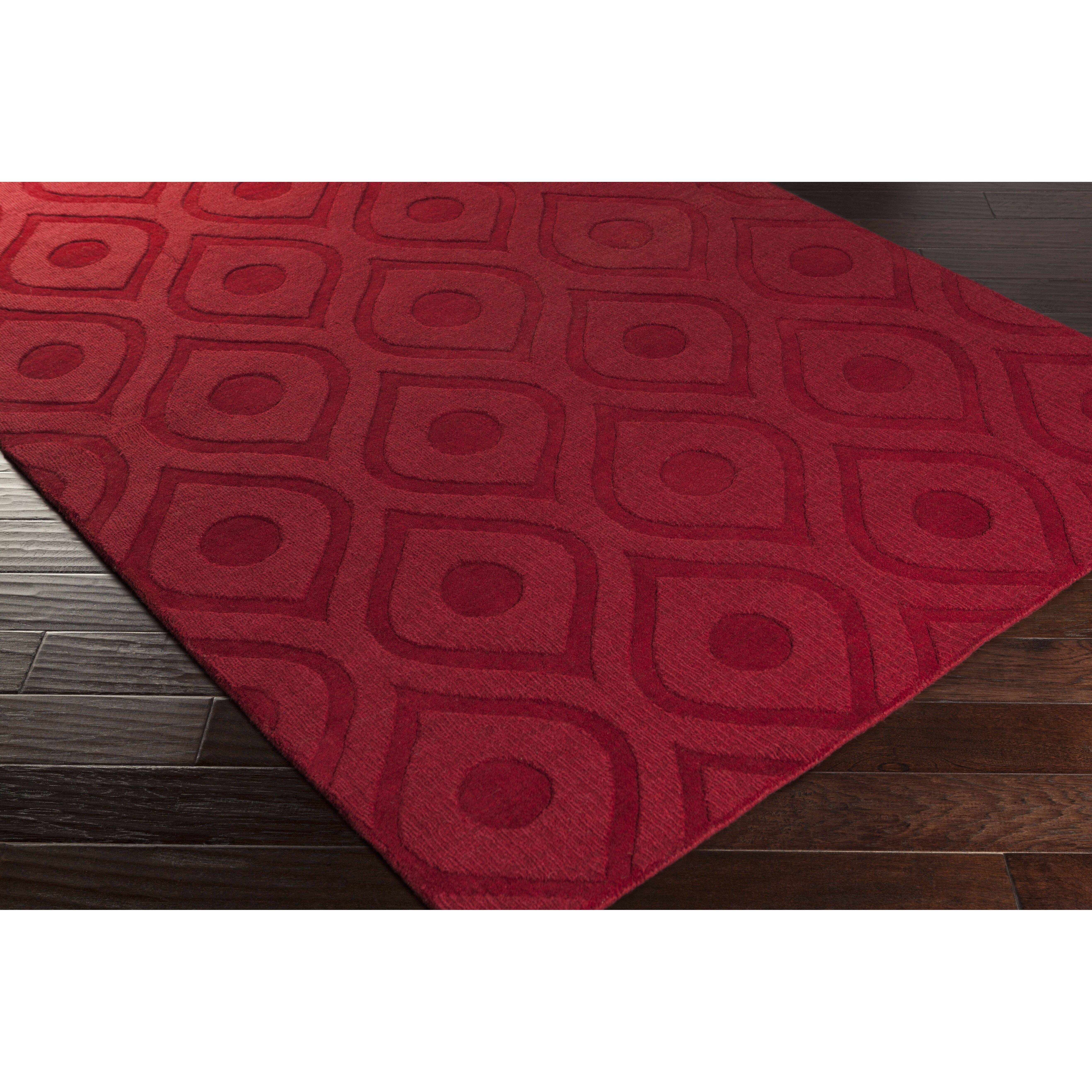 Artistic Weavers Central Park Red Geometric Zara Area Rug