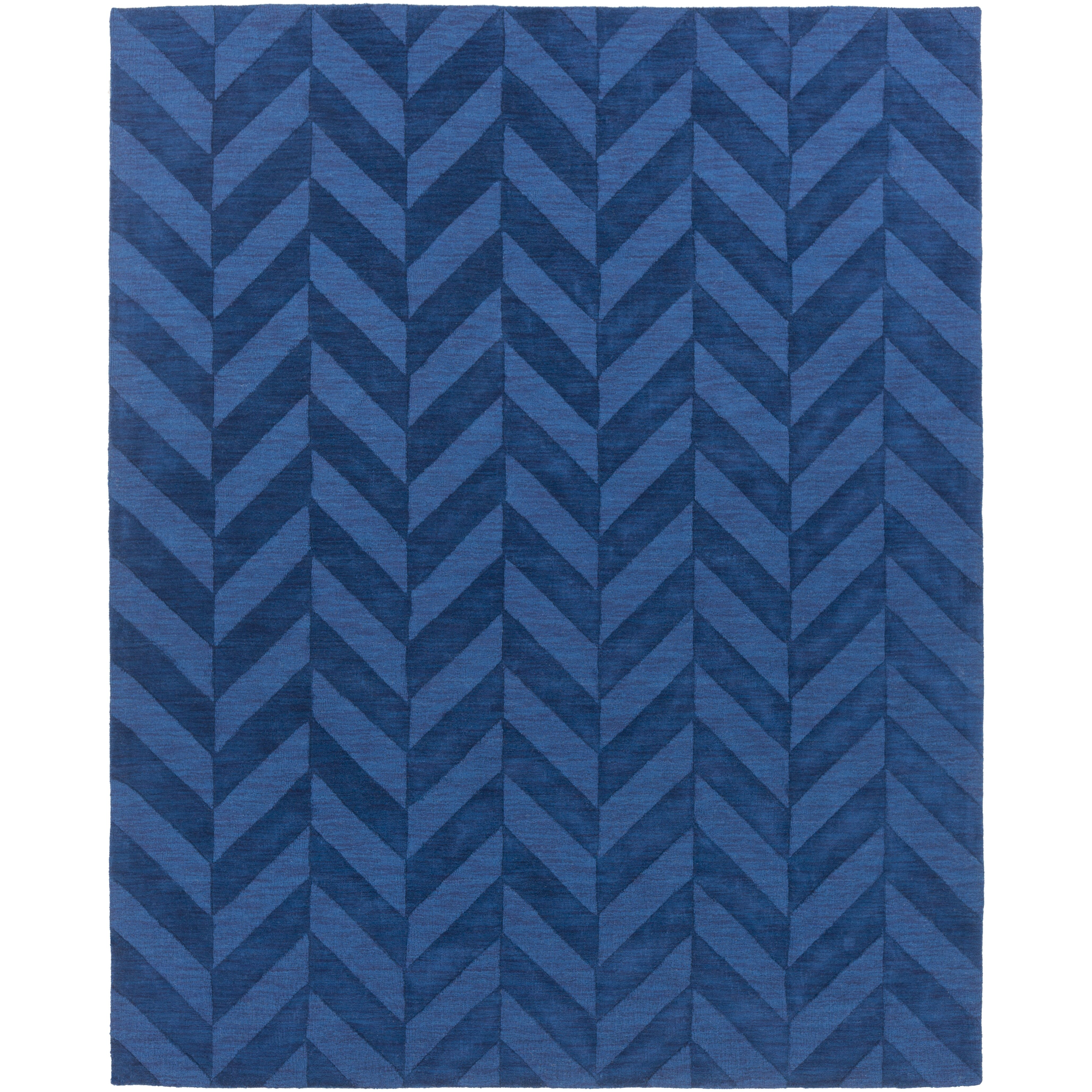 Chevron Accent Rug: Artistic Weavers Central Park Navy Chevron Carrie Area Rug