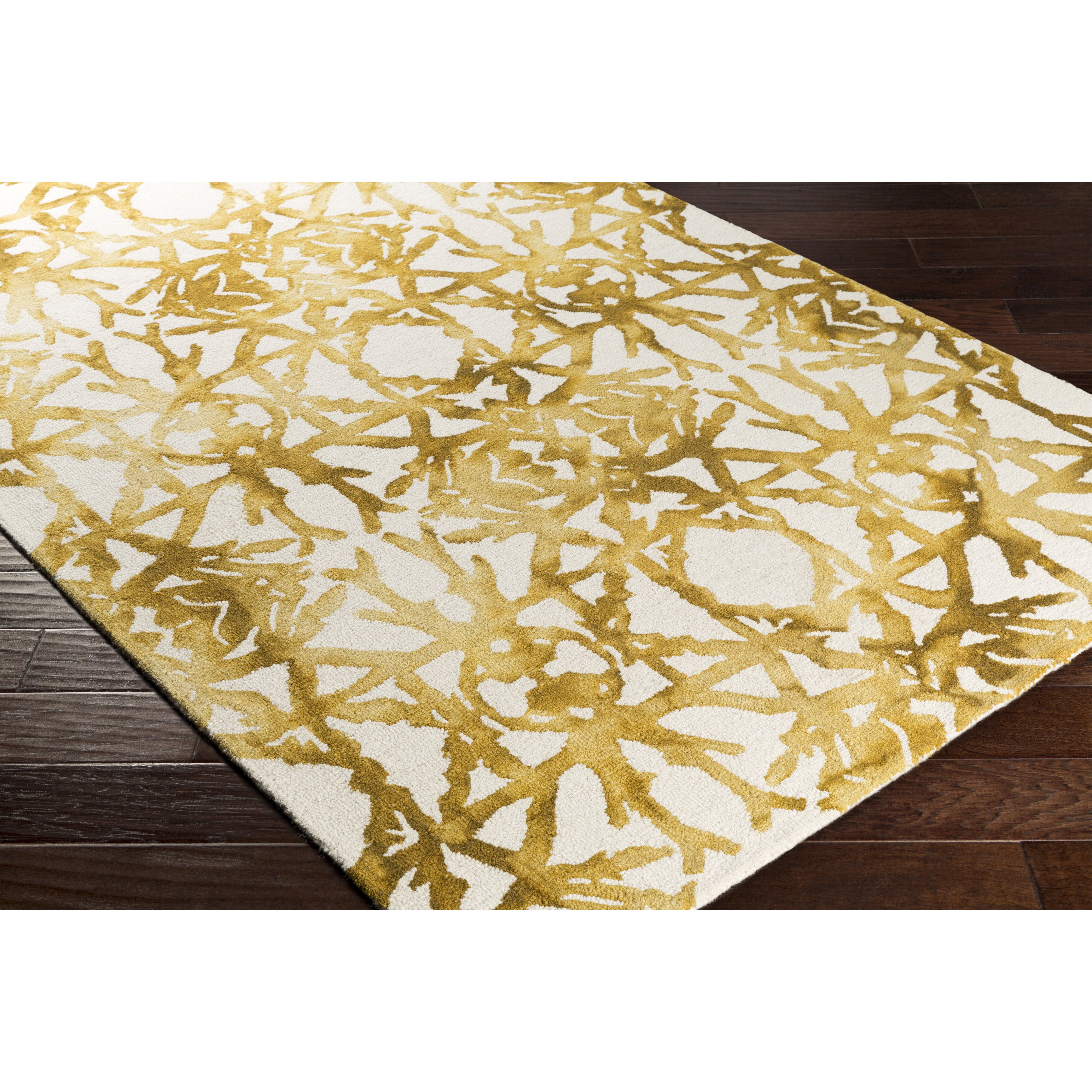 Artistic Weavers Organic Avery Hand Tufted Gold Off White