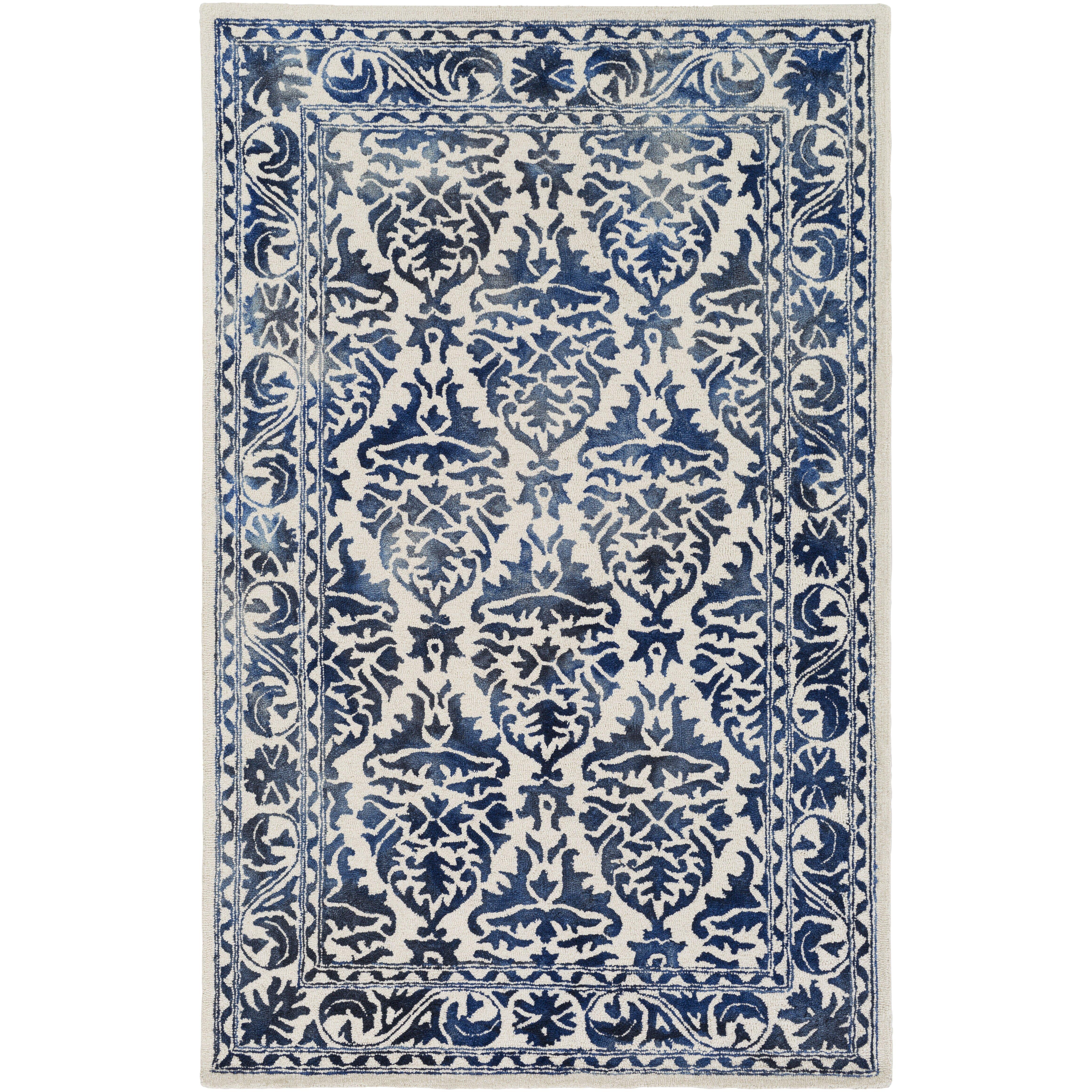 artistic weavers organic tufted navy white area rug reviews wayfair