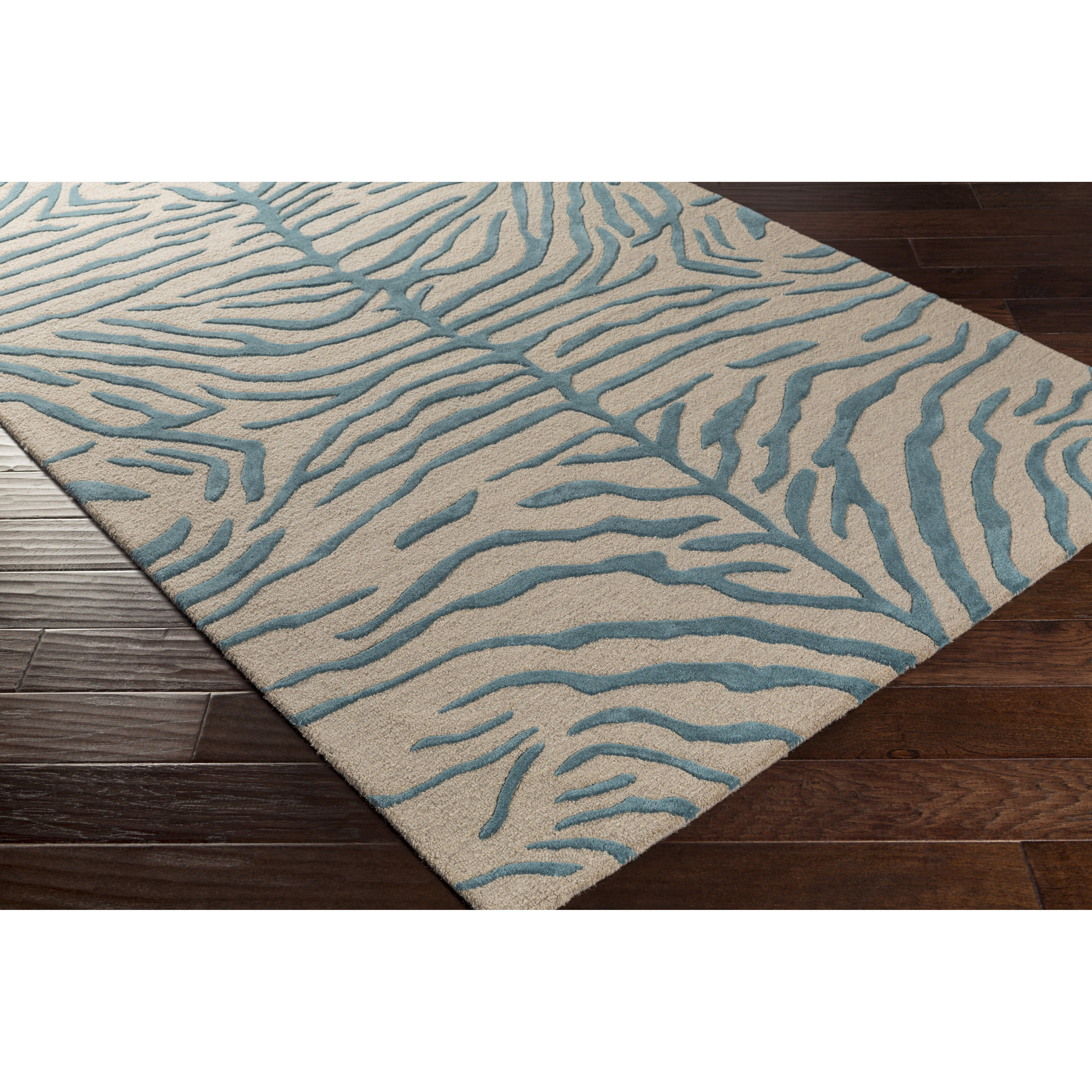 Artistic Weavers Pollack Hannah Handmade Teal/Beige Area