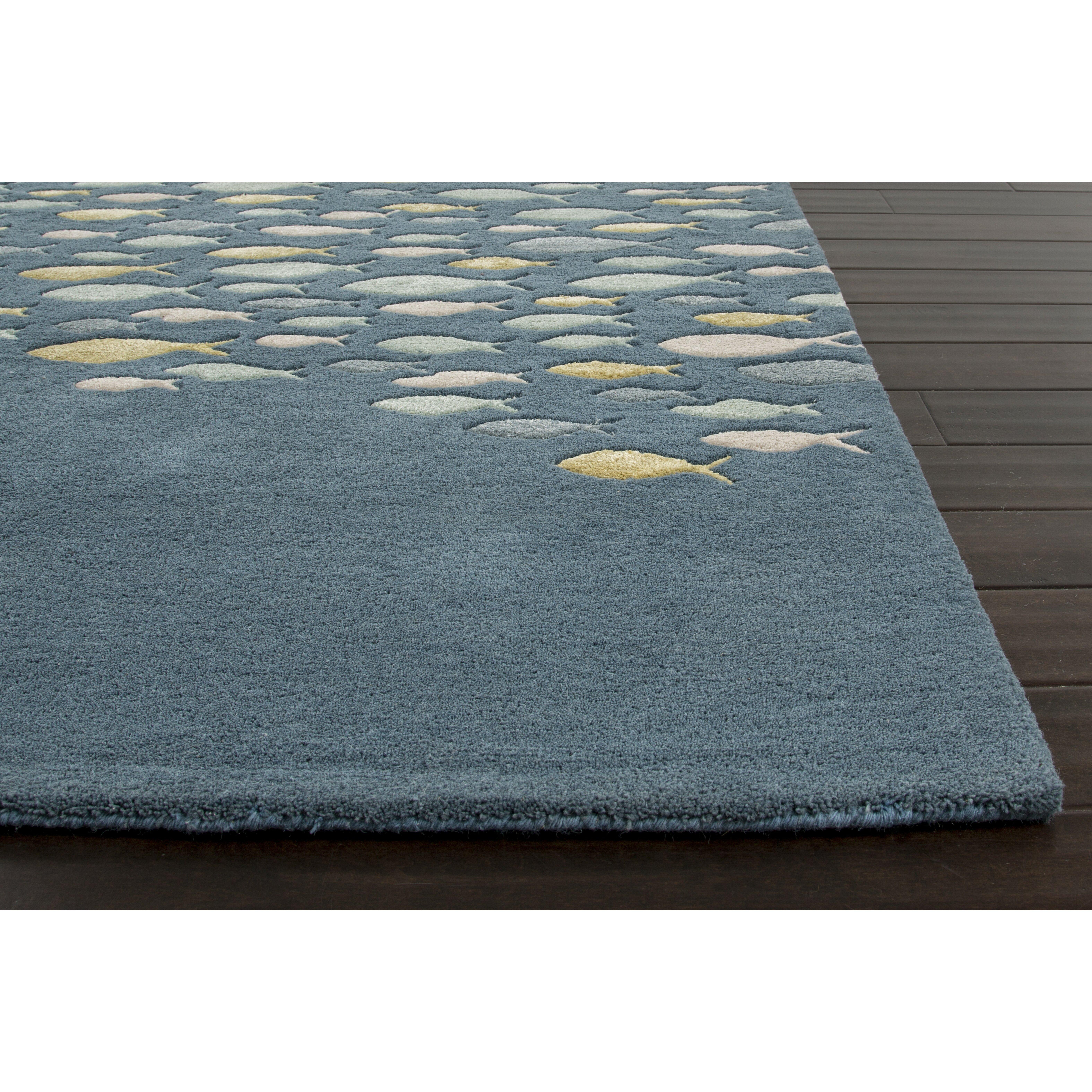 jaipurliving c l hand tufted gray blue area rug reviews wayfair. Black Bedroom Furniture Sets. Home Design Ideas