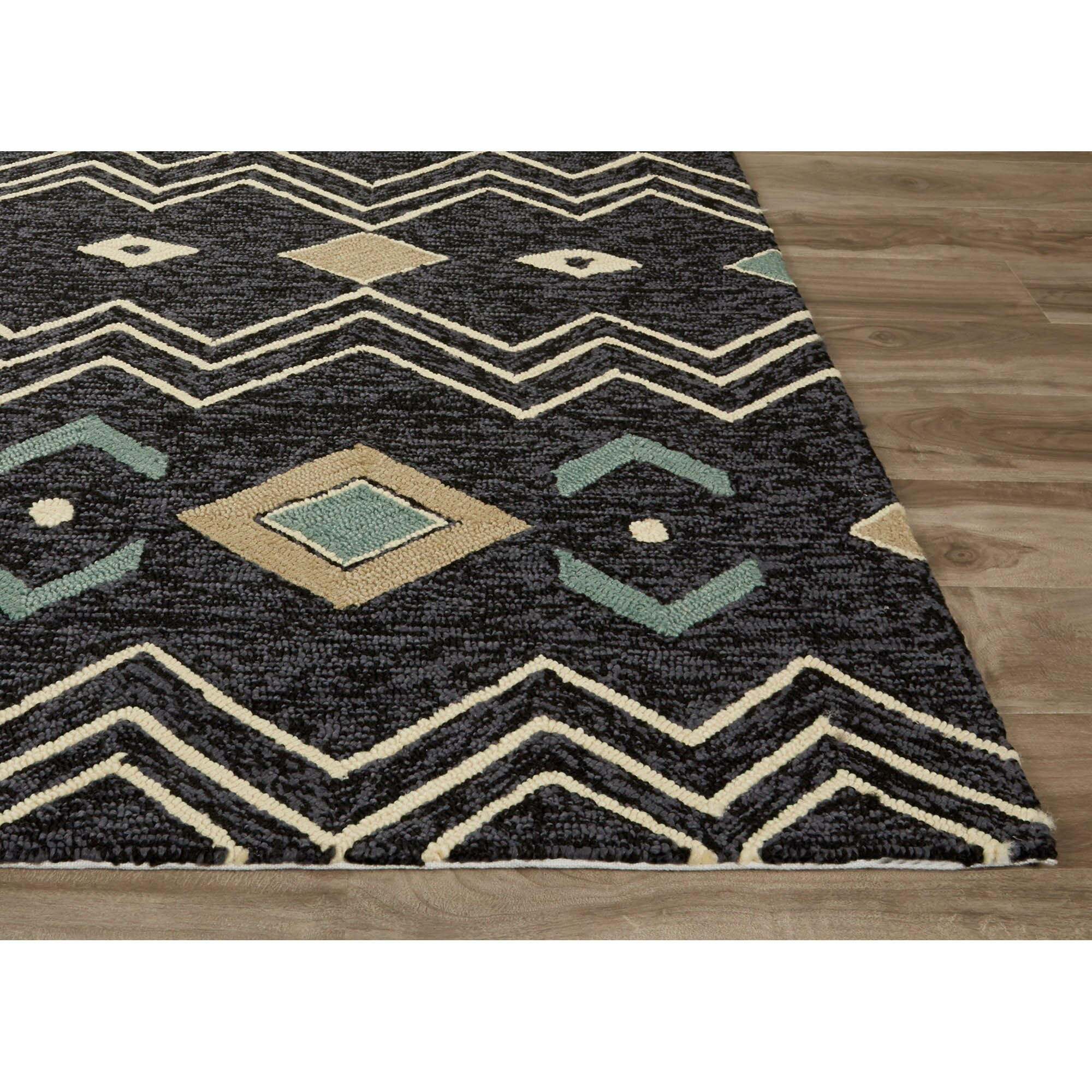 Jaipurliving catalina black white indoor outdoor area rug for Indoor out door rugs