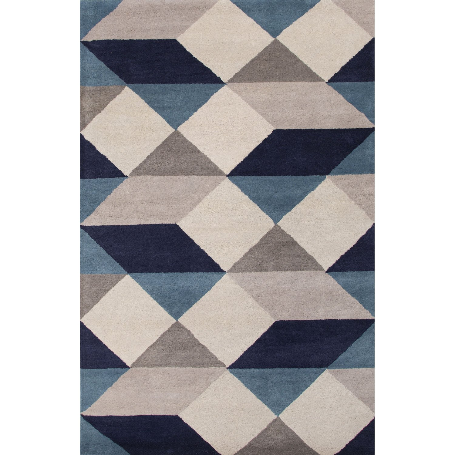 Jaipurliving En Casa Gray Blue Geometric Area Rug