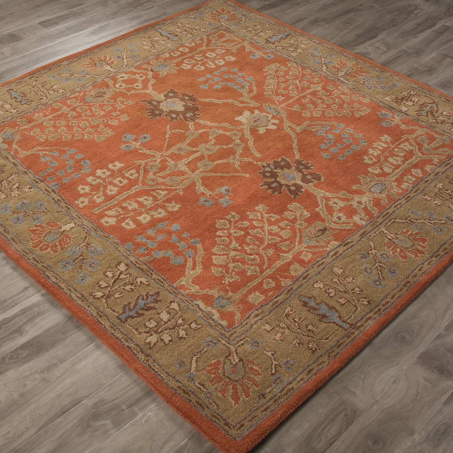 jaipurliving poeme chambery orange rust gold brown area rug reviews wayfair supply. Black Bedroom Furniture Sets. Home Design Ideas