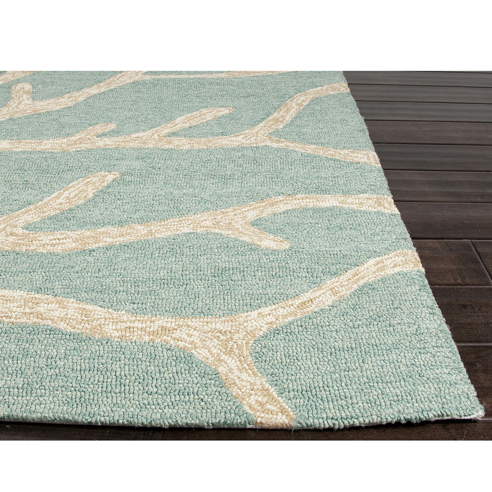 Jaipurliving coastal lagoon green beige indoor outdoor for Indoor outdoor carpet green