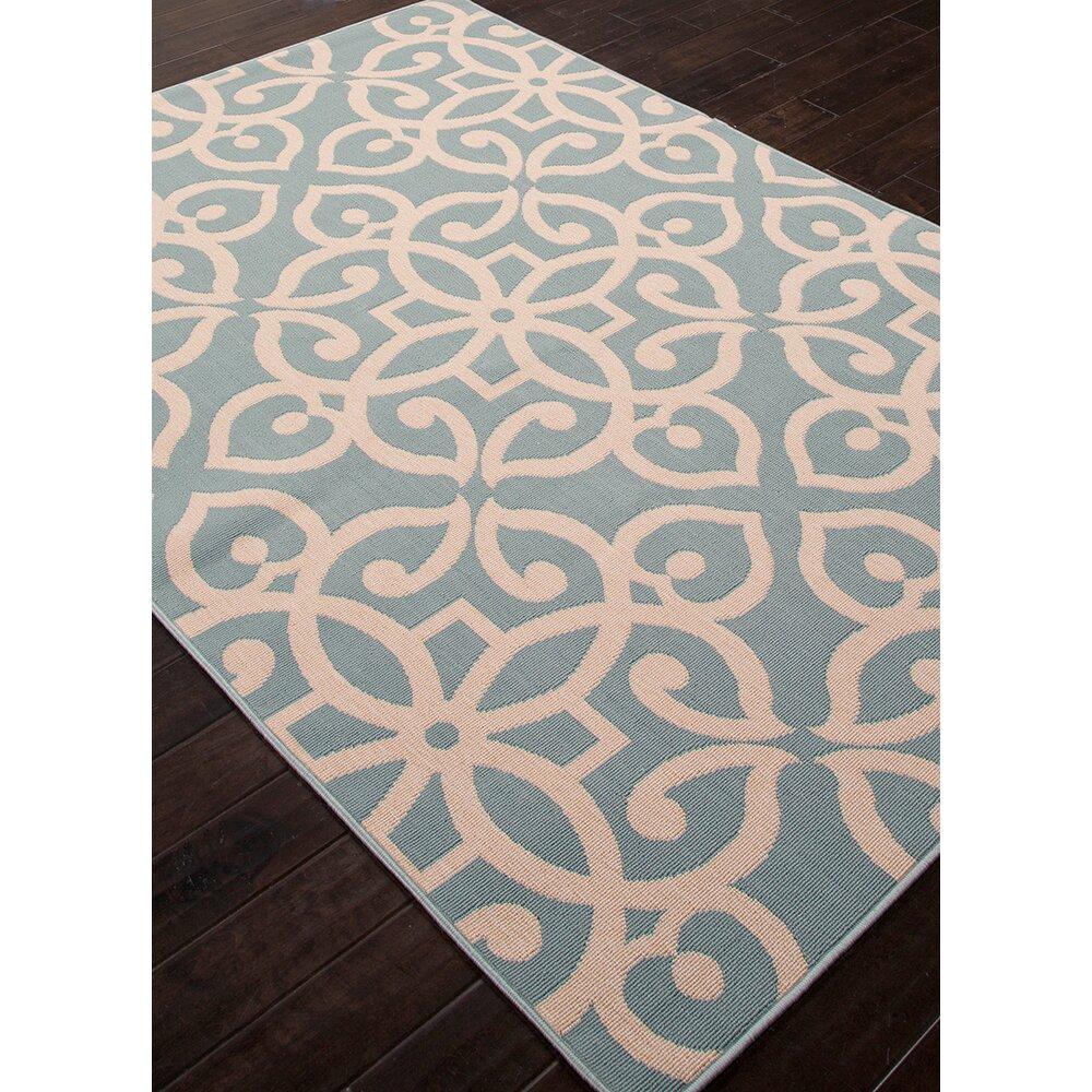 Jaipurliving bloom blue taupe indoor outdoor area rug for Blue indoor outdoor rug