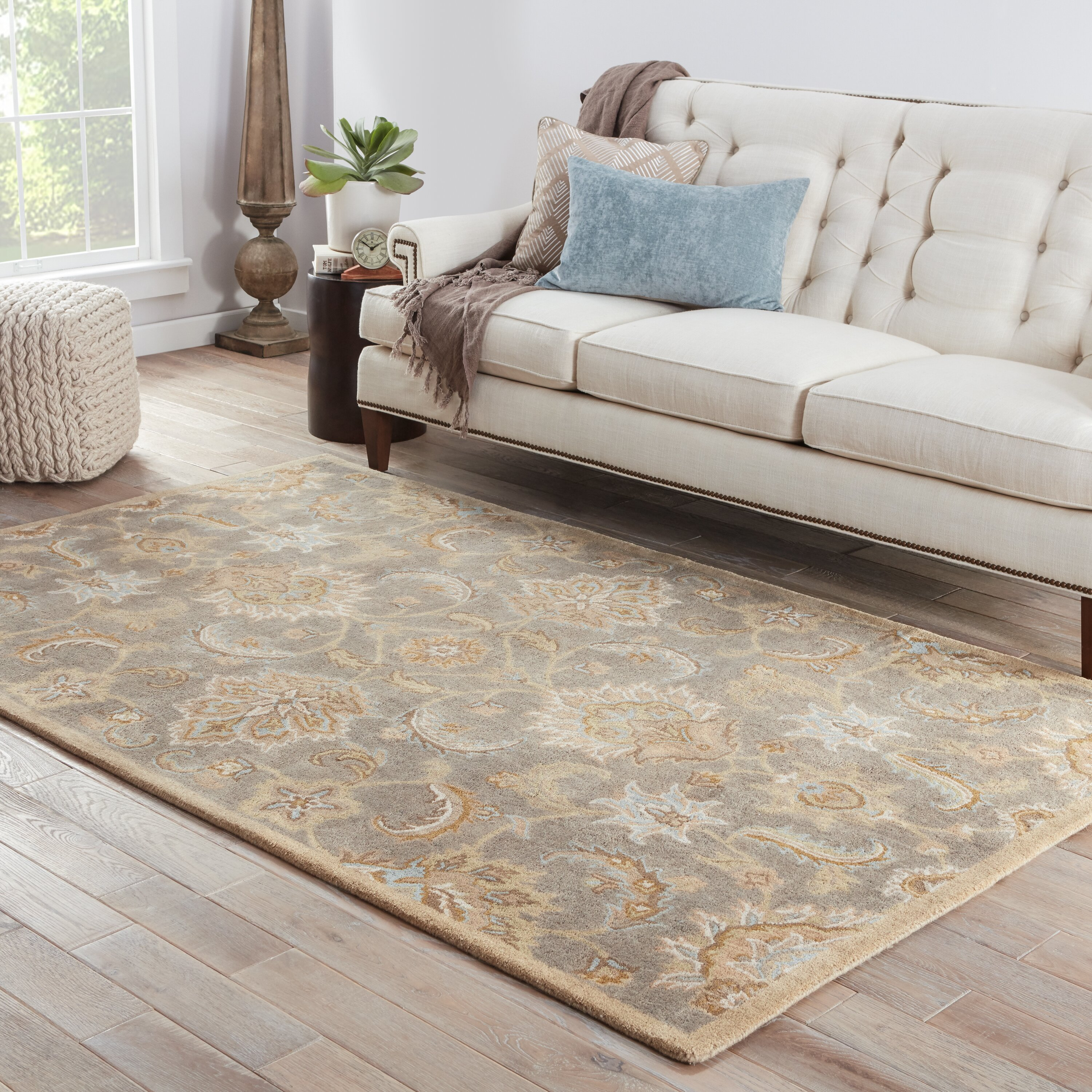 Jaipurliving mythos grey tan area rug reviews for Grey and tan rug