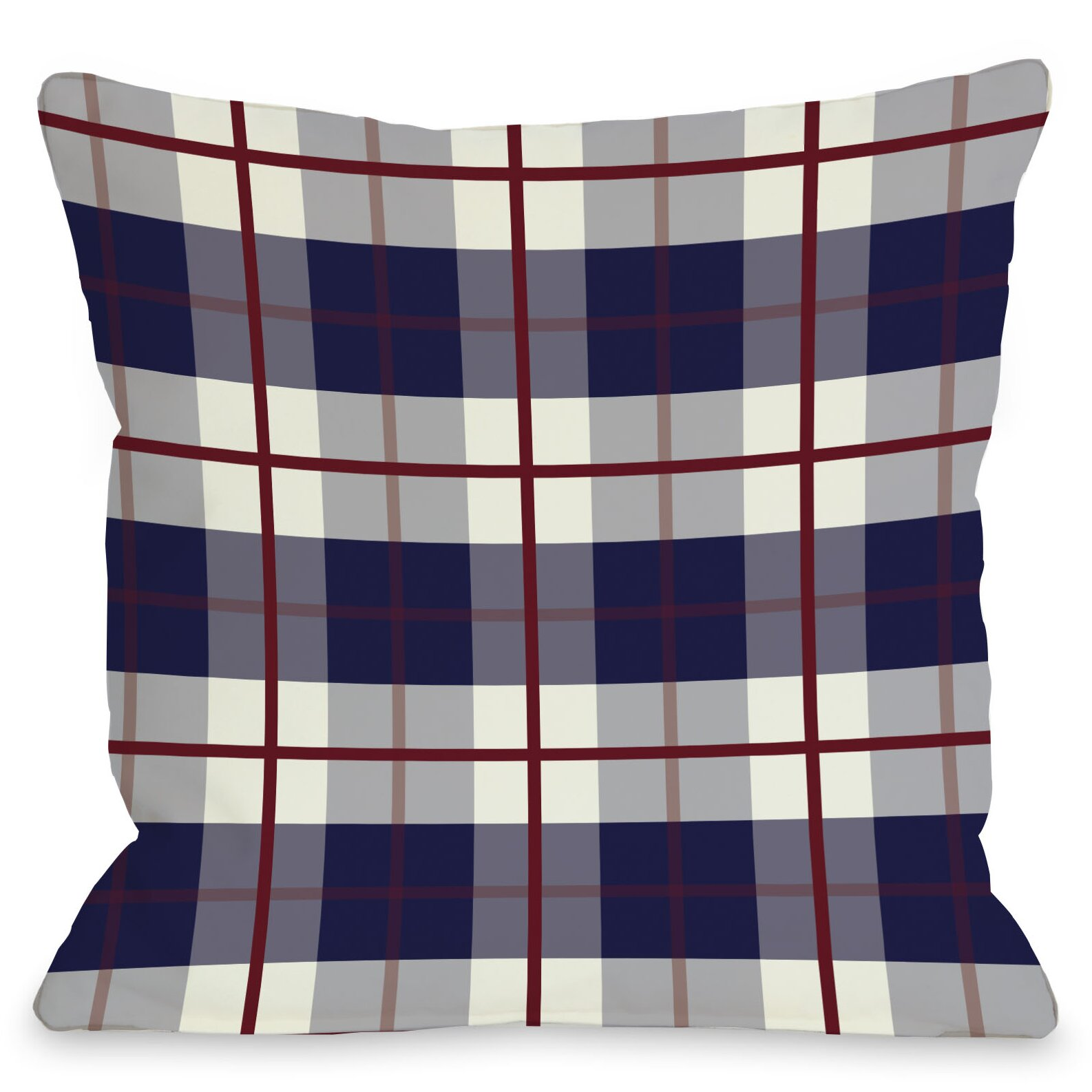 one bella casa american plaid throw pillow reviews wayfair. Black Bedroom Furniture Sets. Home Design Ideas