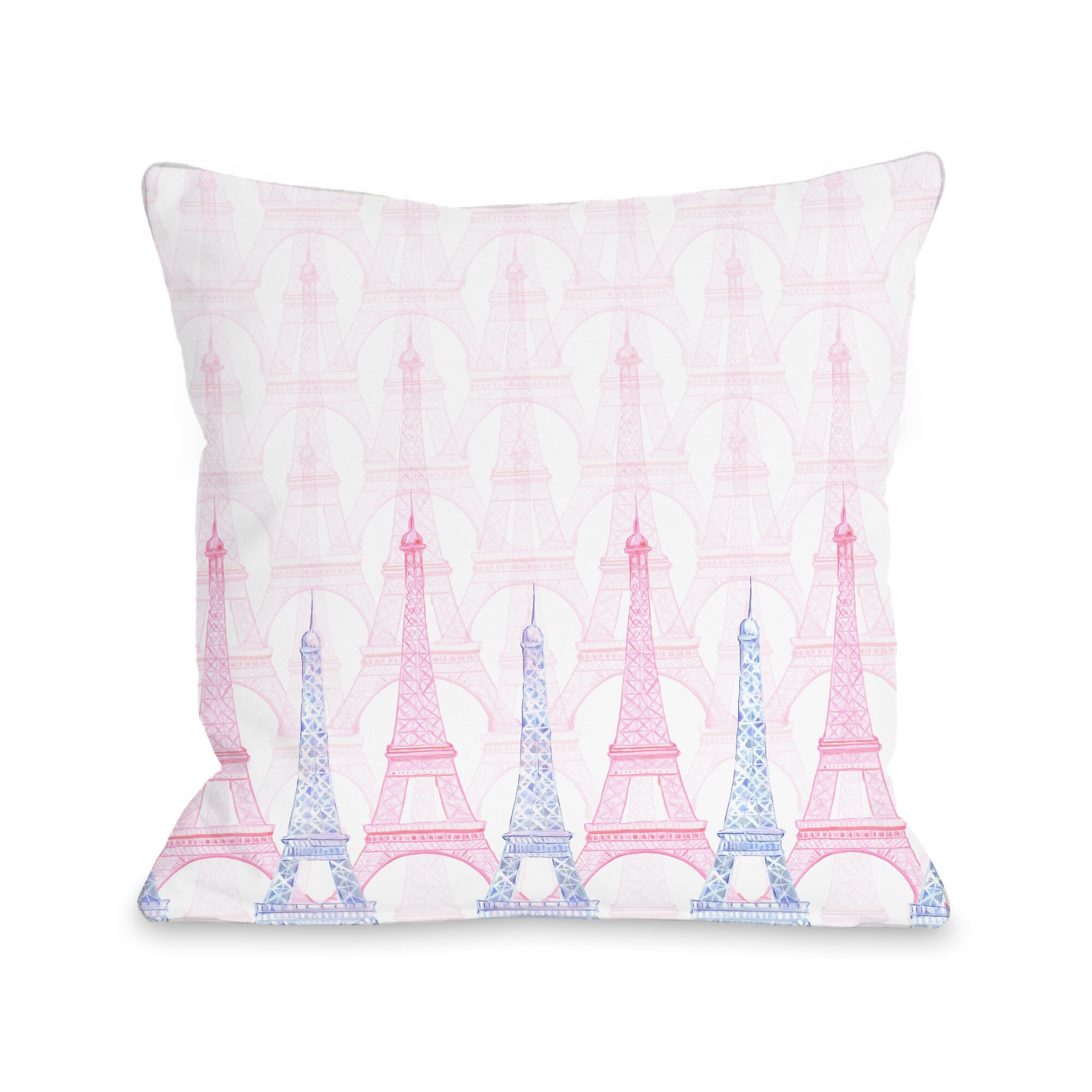 One Bella Casa Eiffel Tower Throw Pillow Wayfair