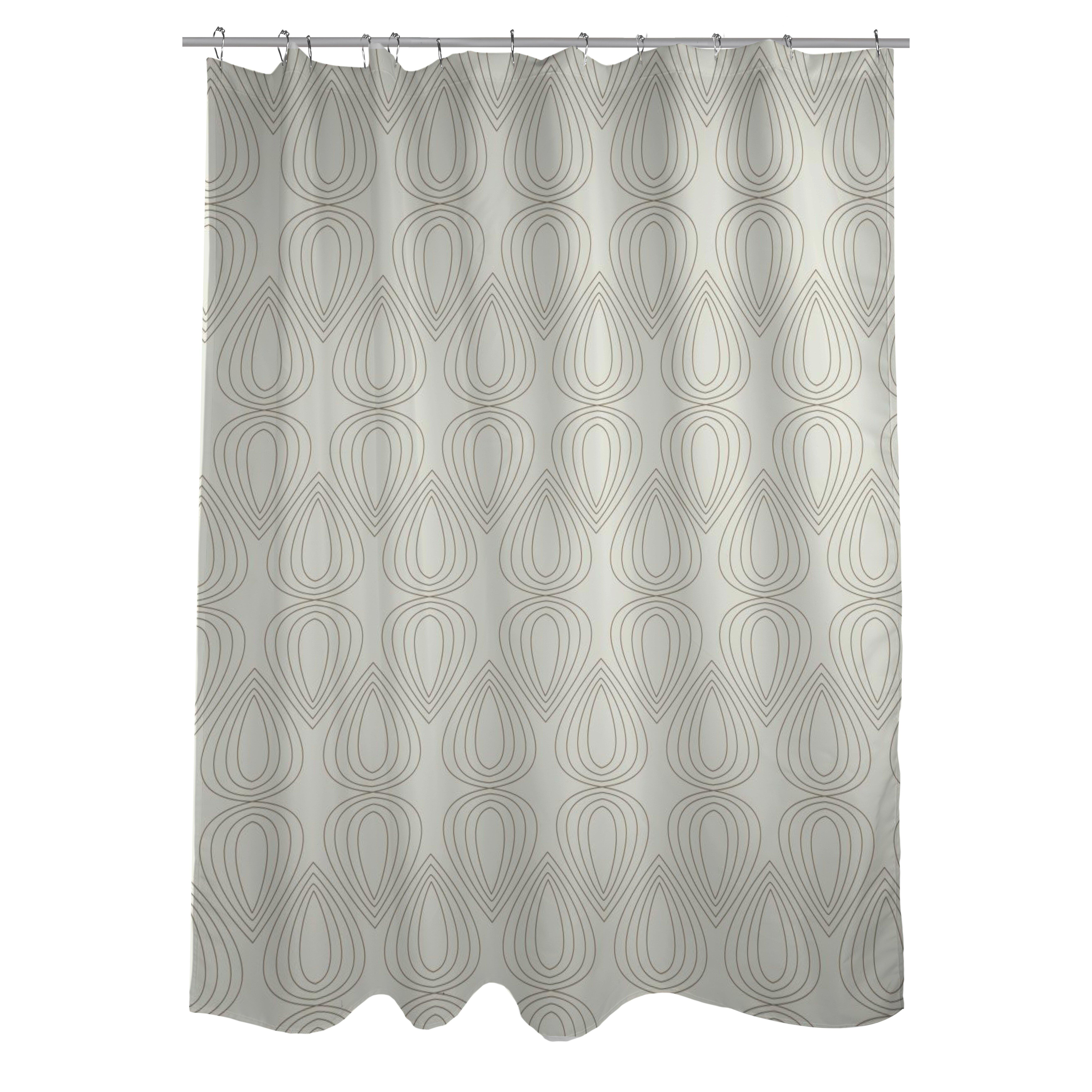 One Bella Casa Mod Drops Geometric Shower Curtain Reviews Wayfair