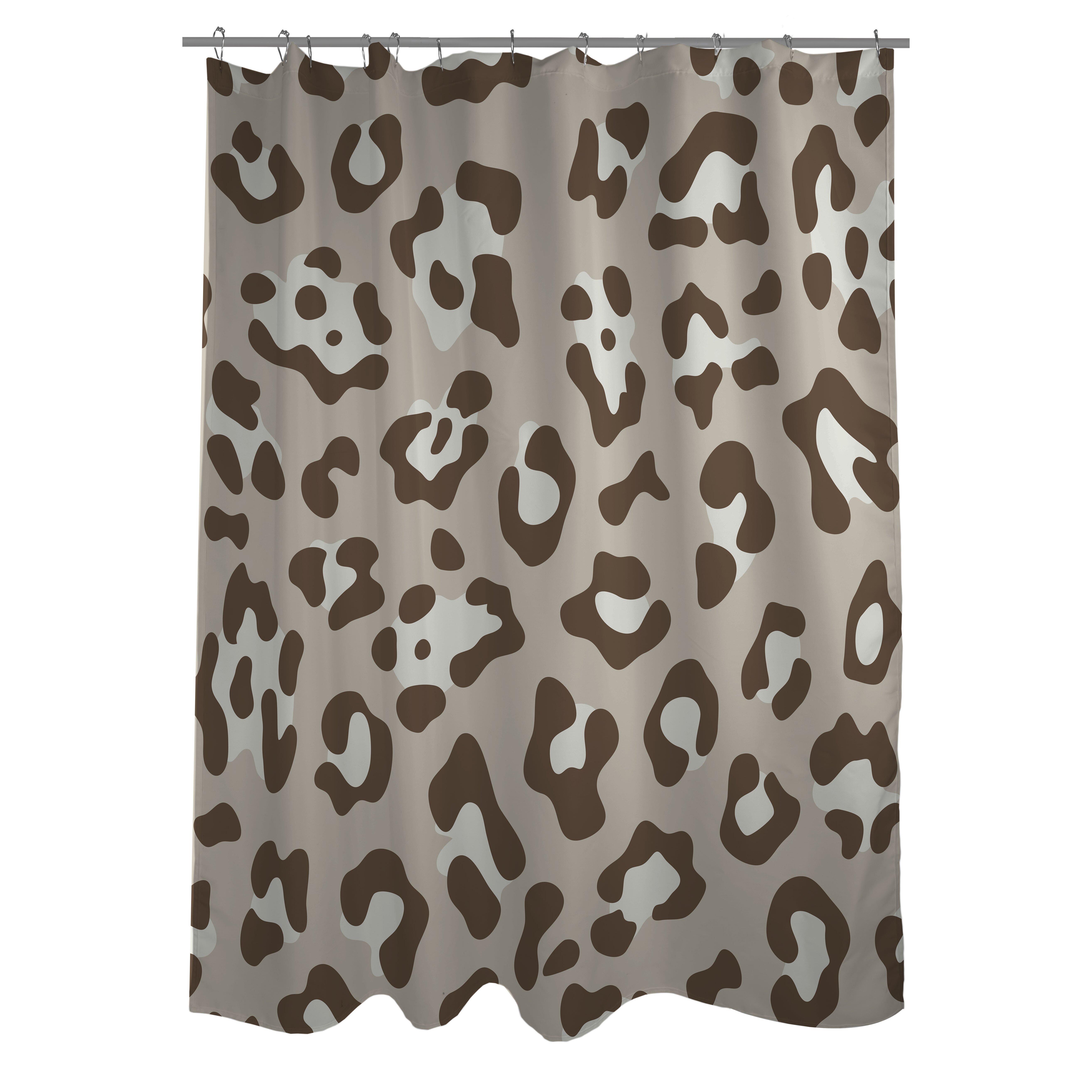 shower curtain print interdesign leaf print polyester shower