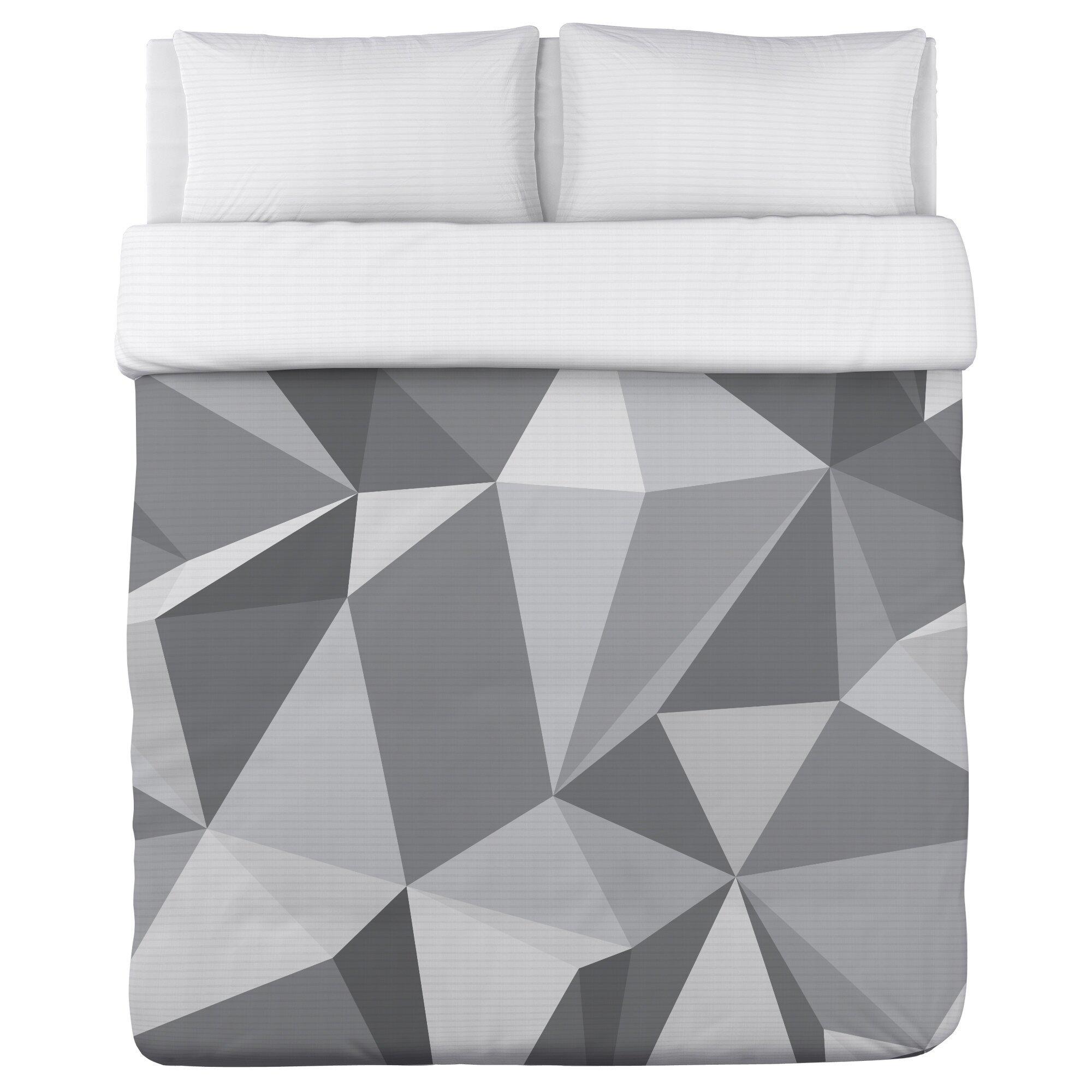 One Bella Casa Kelsi Geometric Fleece Duvet Cover Wayfair