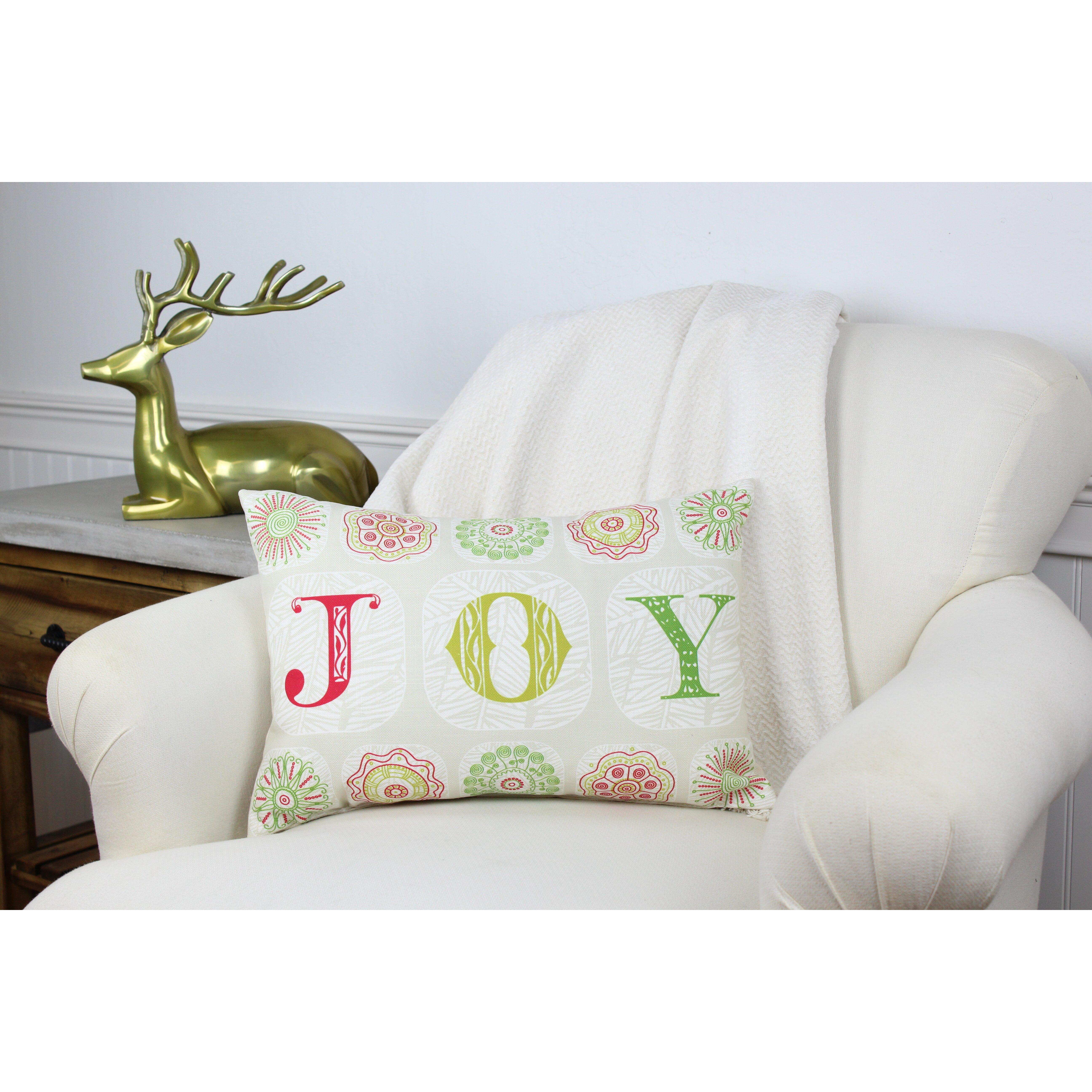 Joy Throw Pillow : One Bella Casa Holiday Boho Joy Throw Pillow & Reviews Wayfair