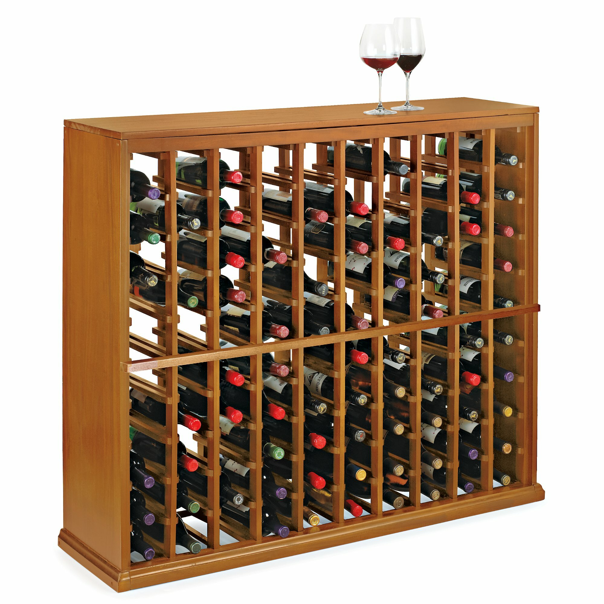 Wine enthusiast companies n 39 finity 100 bottle floor wine for Floor wine rack