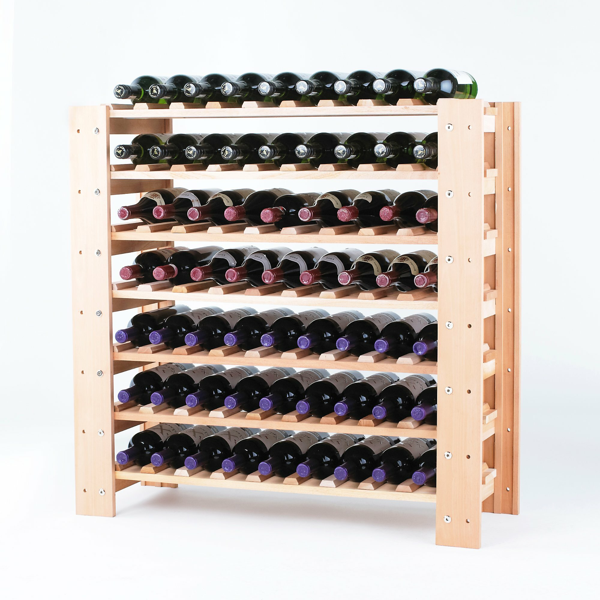 Wine enthusiast companies swedish 63 bottle floor wine for Floor wine rack