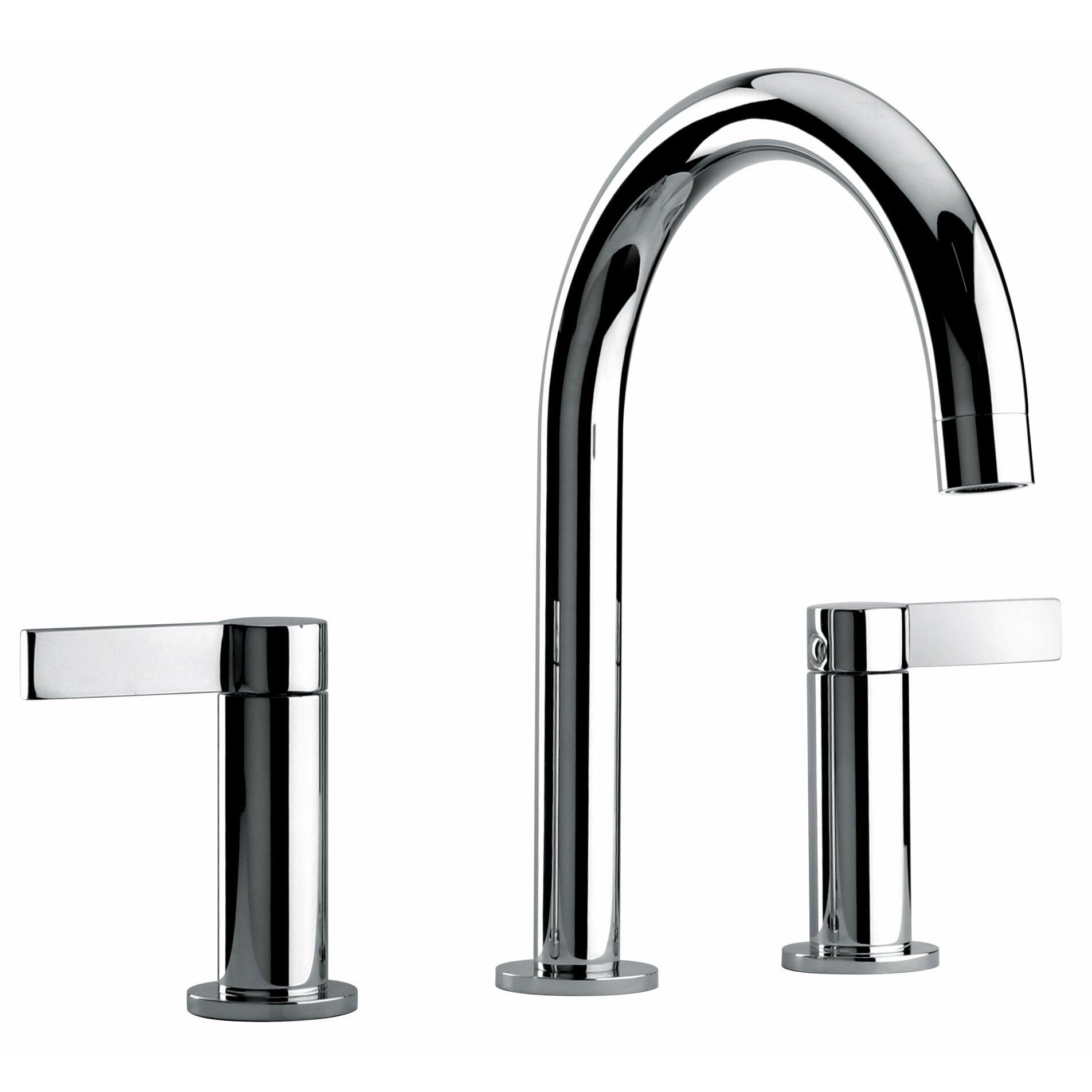 Faucets J14 Bath Series Two Lever Handle Widespread Bathroom Faucet ...