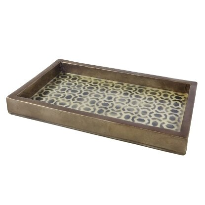 Dekorasyon andi vanity tray wayfair for Decorative bathroom tray