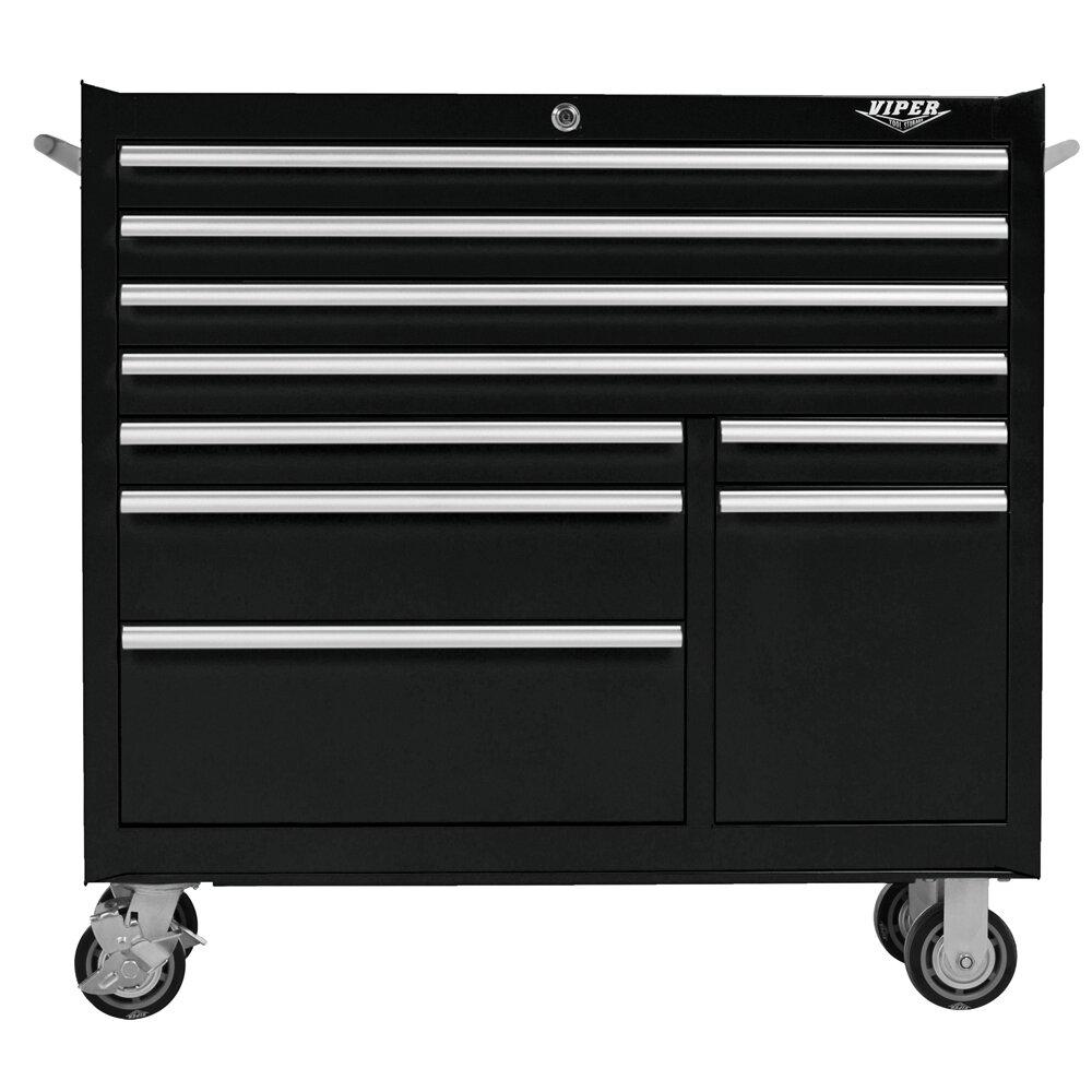viper tool storage 41 5 w 9 drawer tool chest reviews wayfair. Black Bedroom Furniture Sets. Home Design Ideas