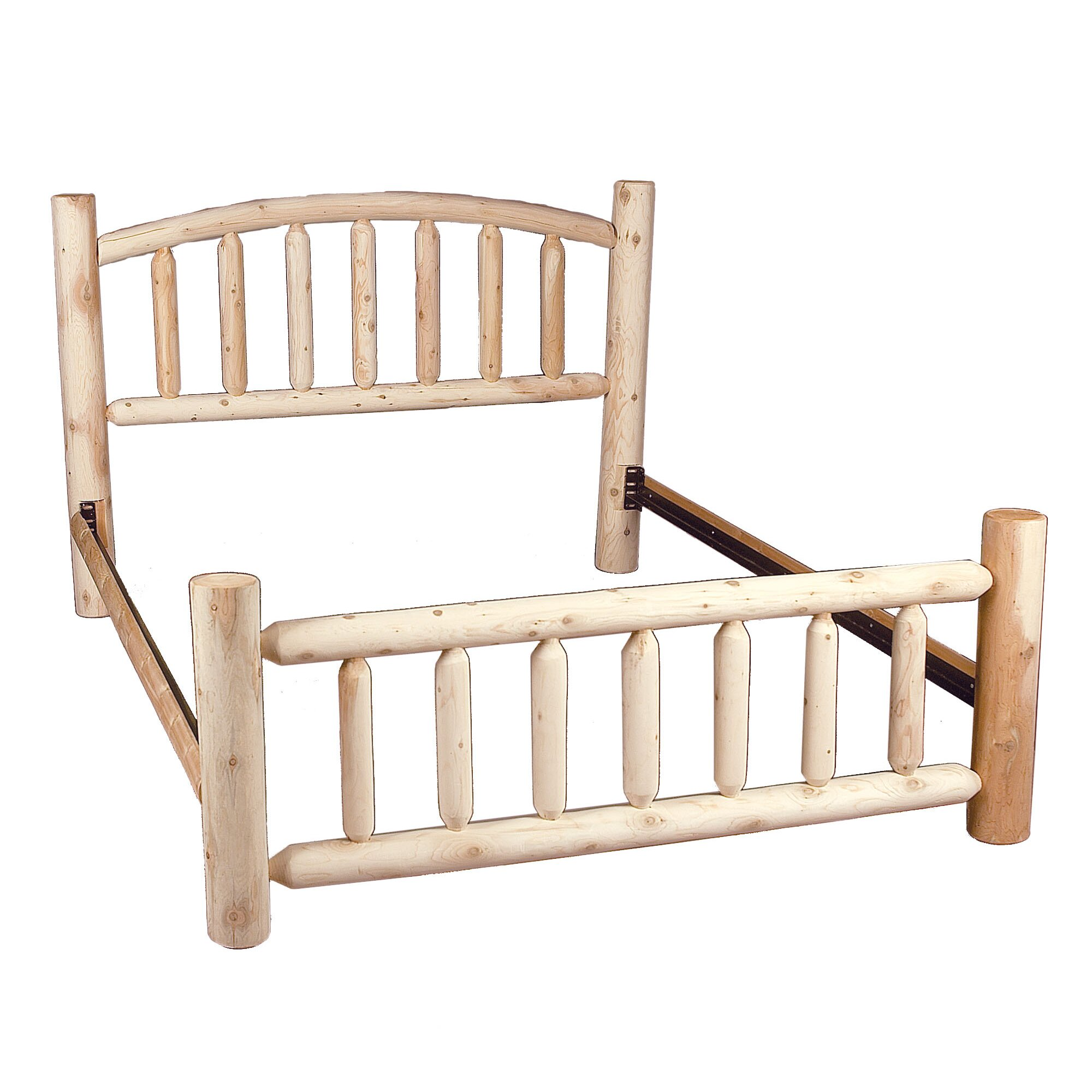 Rustic Cedar Log Style Beds Panel Bed Reviews