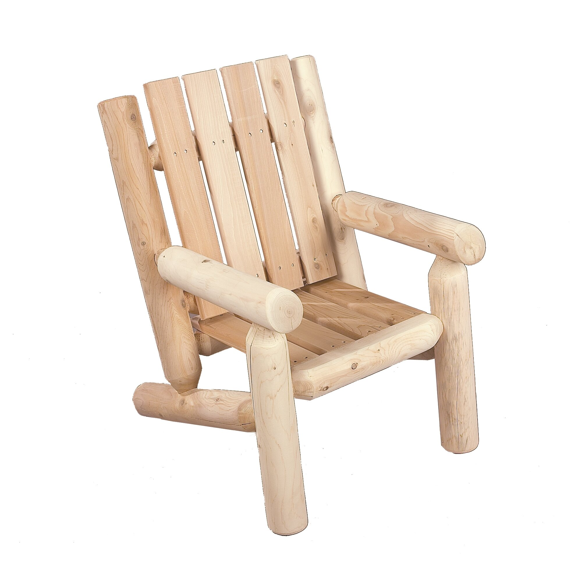 Rustic Cedar Junior Cedar Log Arm Chair & Reviews