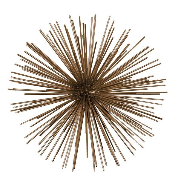 Metal Urchin Wall Decor : Urban trends metal sea urchin ornamental sculpture wall
