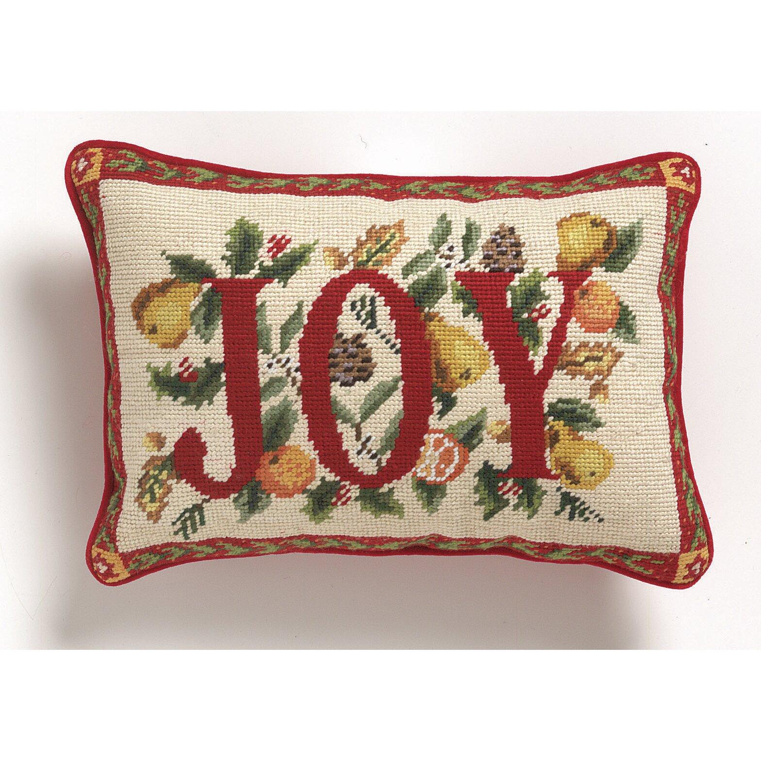 Joy Throw Pillow : Peking Handicraft Joy Throw Pillow & Reviews Wayfair