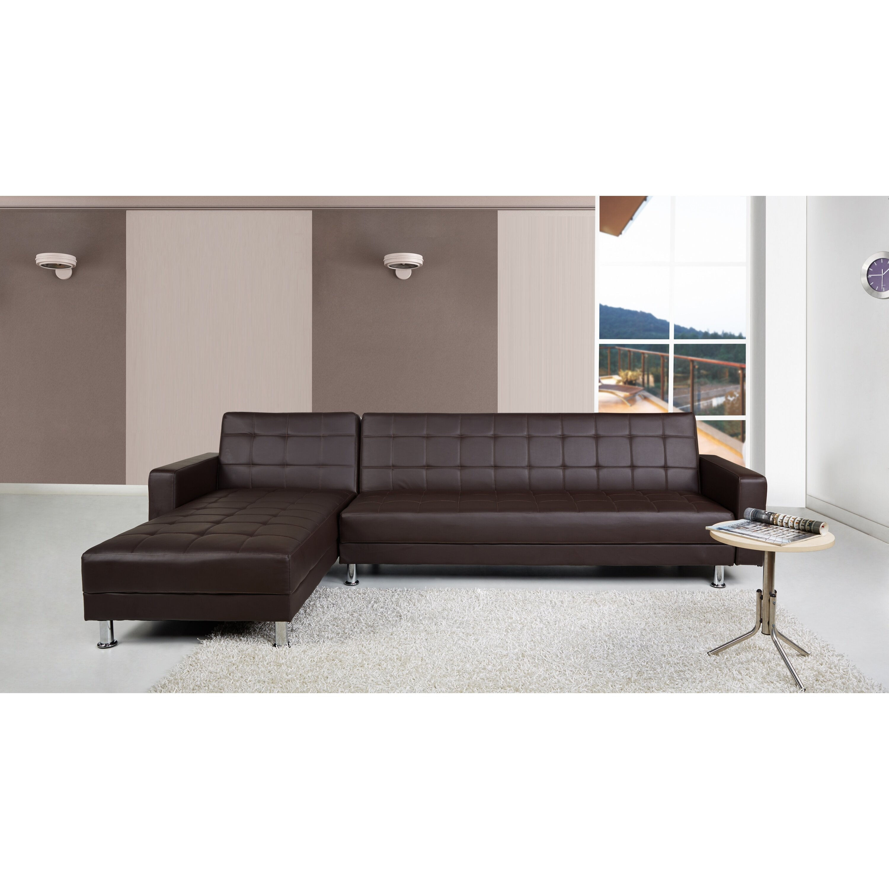 Leader Lifestyle Spencer Modular Corner Sofa Bed & Reviews