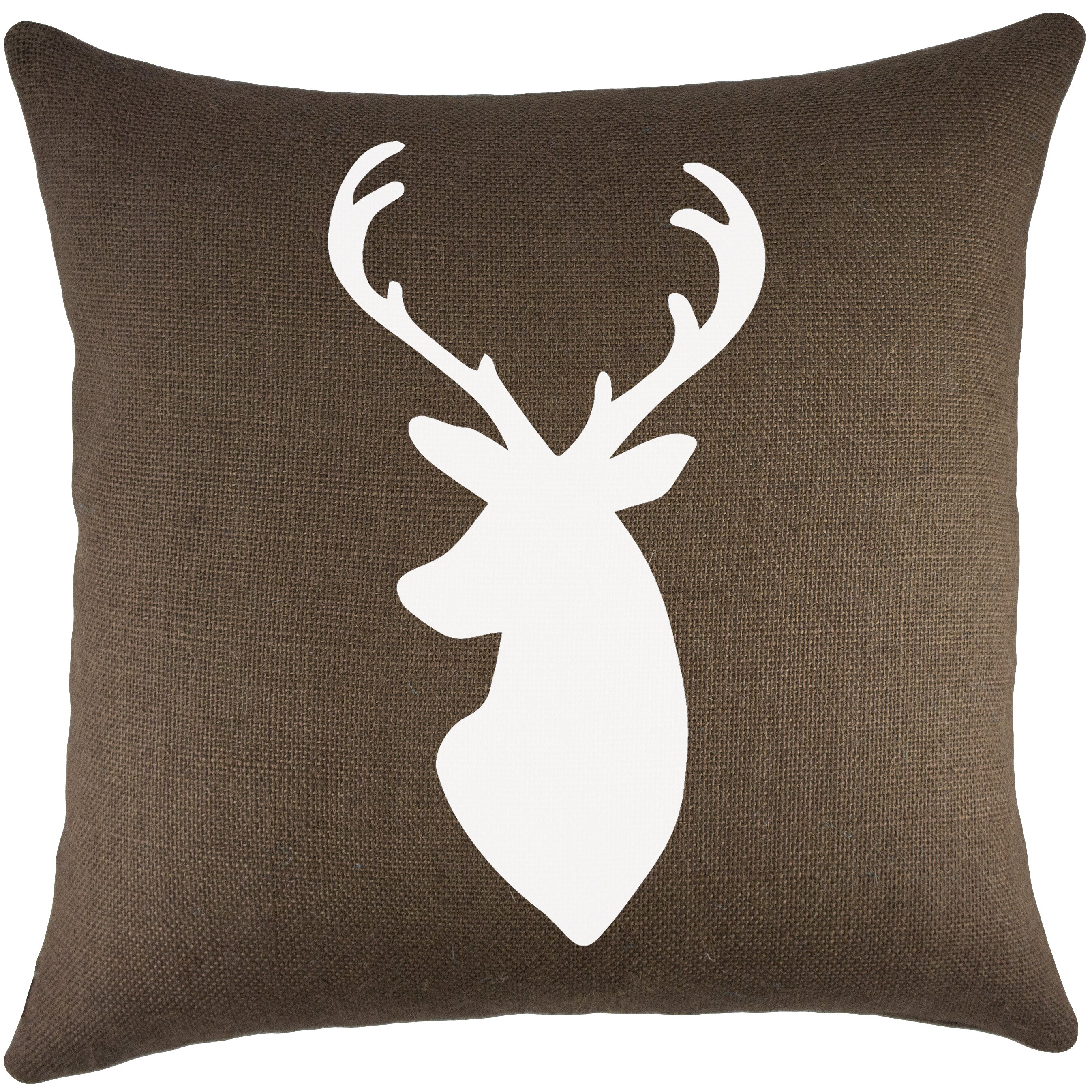 Throw Pillows Deer : TheWatsonShop Deer Burlap Throw Pillow & Reviews Wayfair