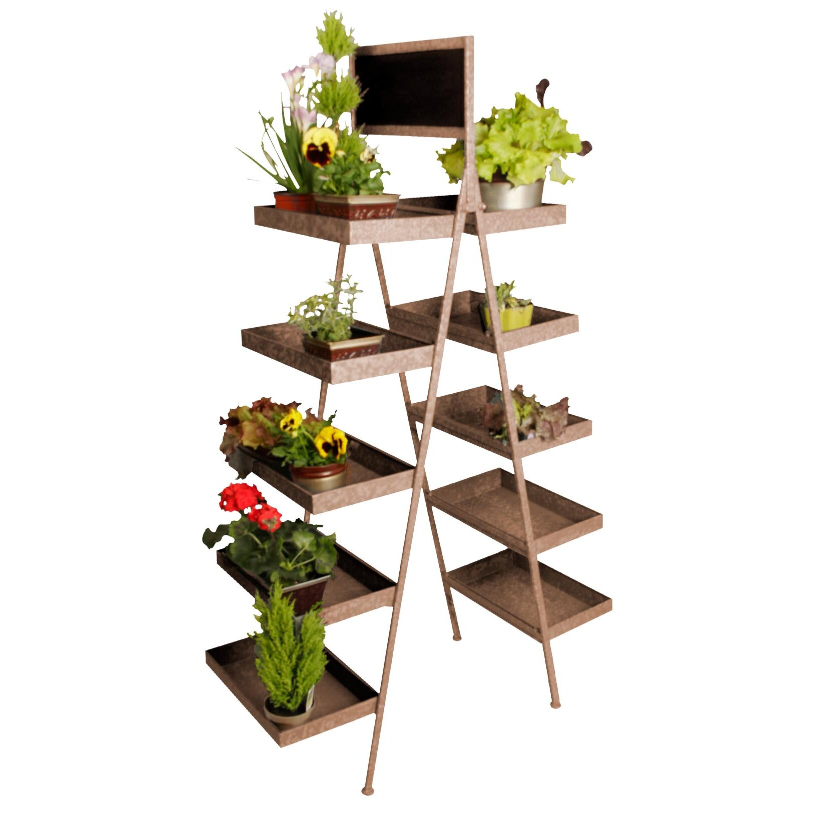 Waldimports Chalkboard Multi Tiered Plant Stand Amp Reviews