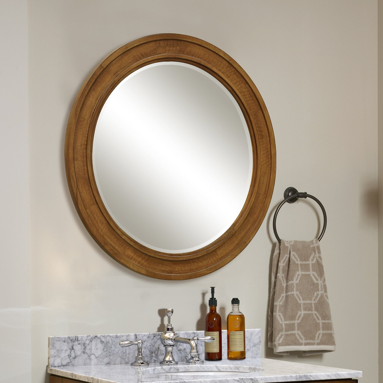 Sagehill ovation 30 round framed mirror wayfair Round framed mirror