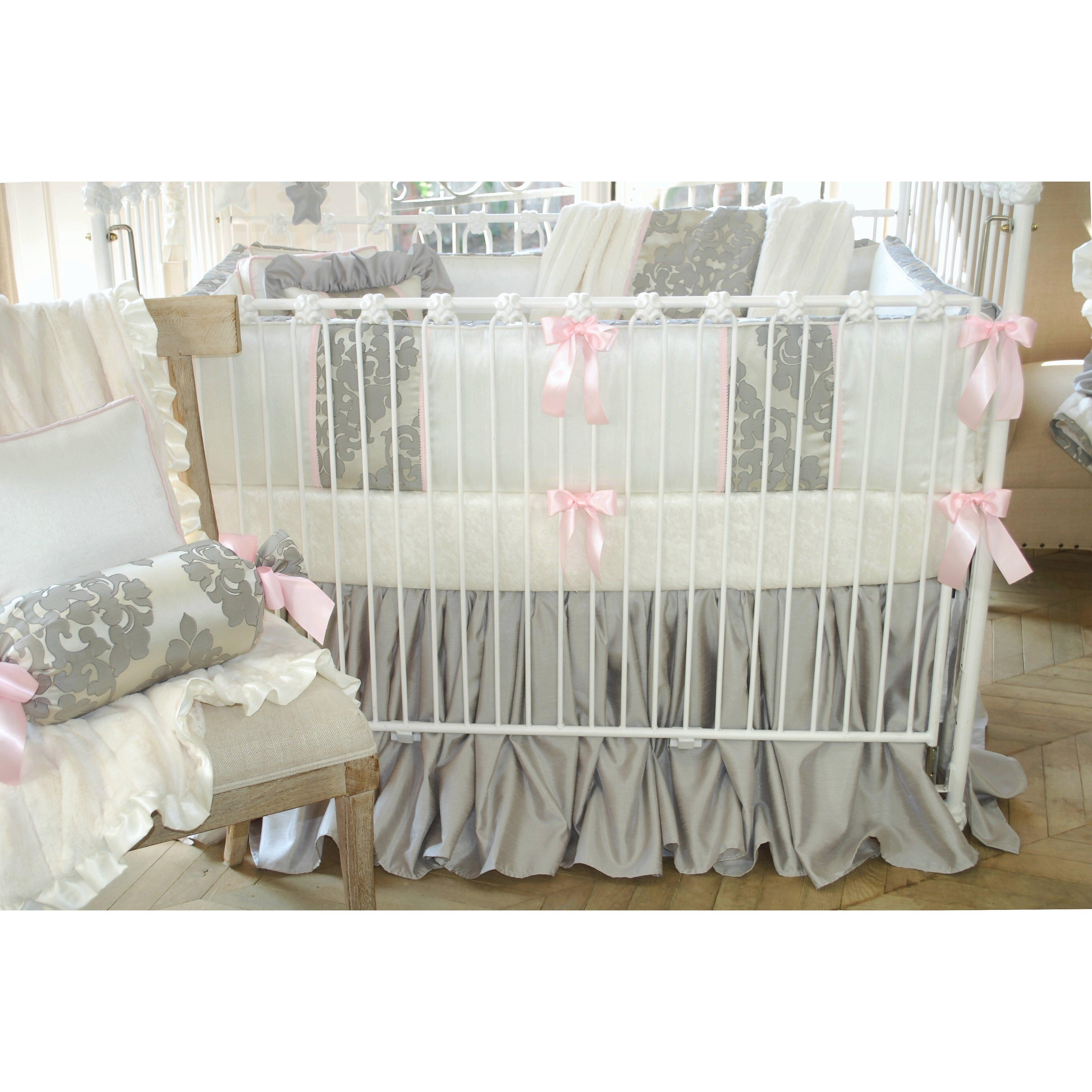 blueberrie kids lulu 4 piece crib bedding set wayfair. Black Bedroom Furniture Sets. Home Design Ideas