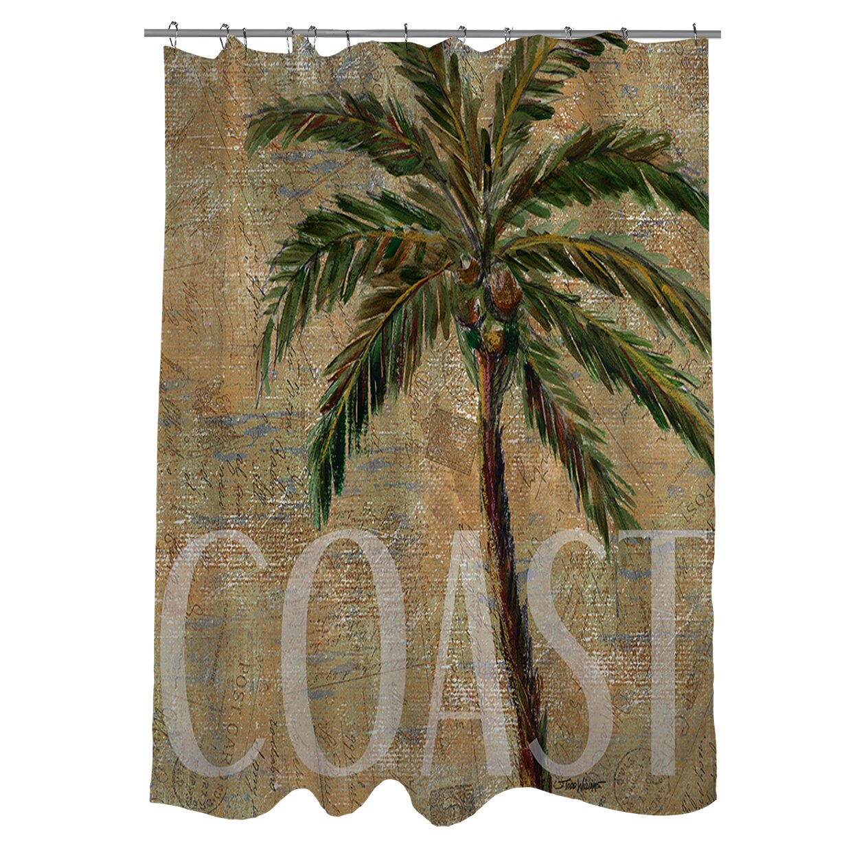 Manual Woodworkers & Weavers Coastal Palm Postcard Shower