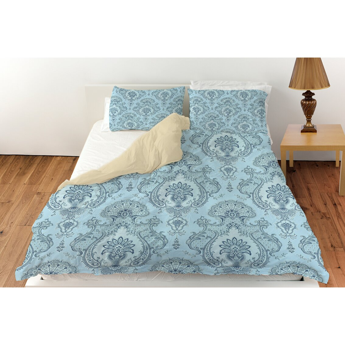 Manual Woodworkers Amp Weavers Damask Pattern Duvet Cover