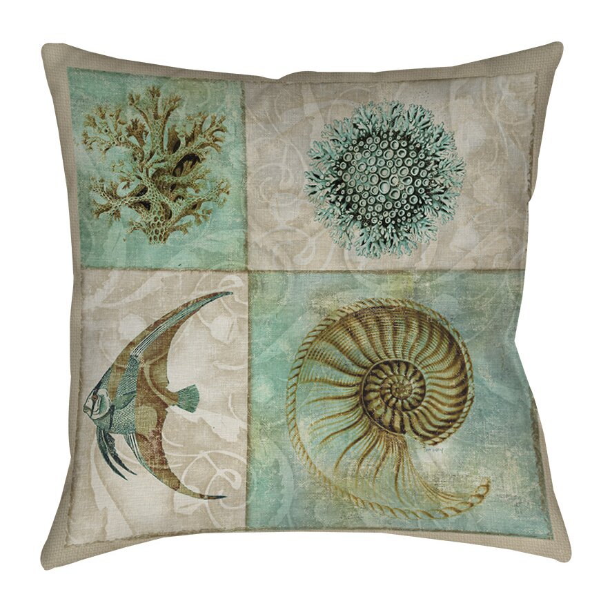 Manual Woodworkers & Weavers Sea Life Printed Throw Pillow & Reviews Wayfair