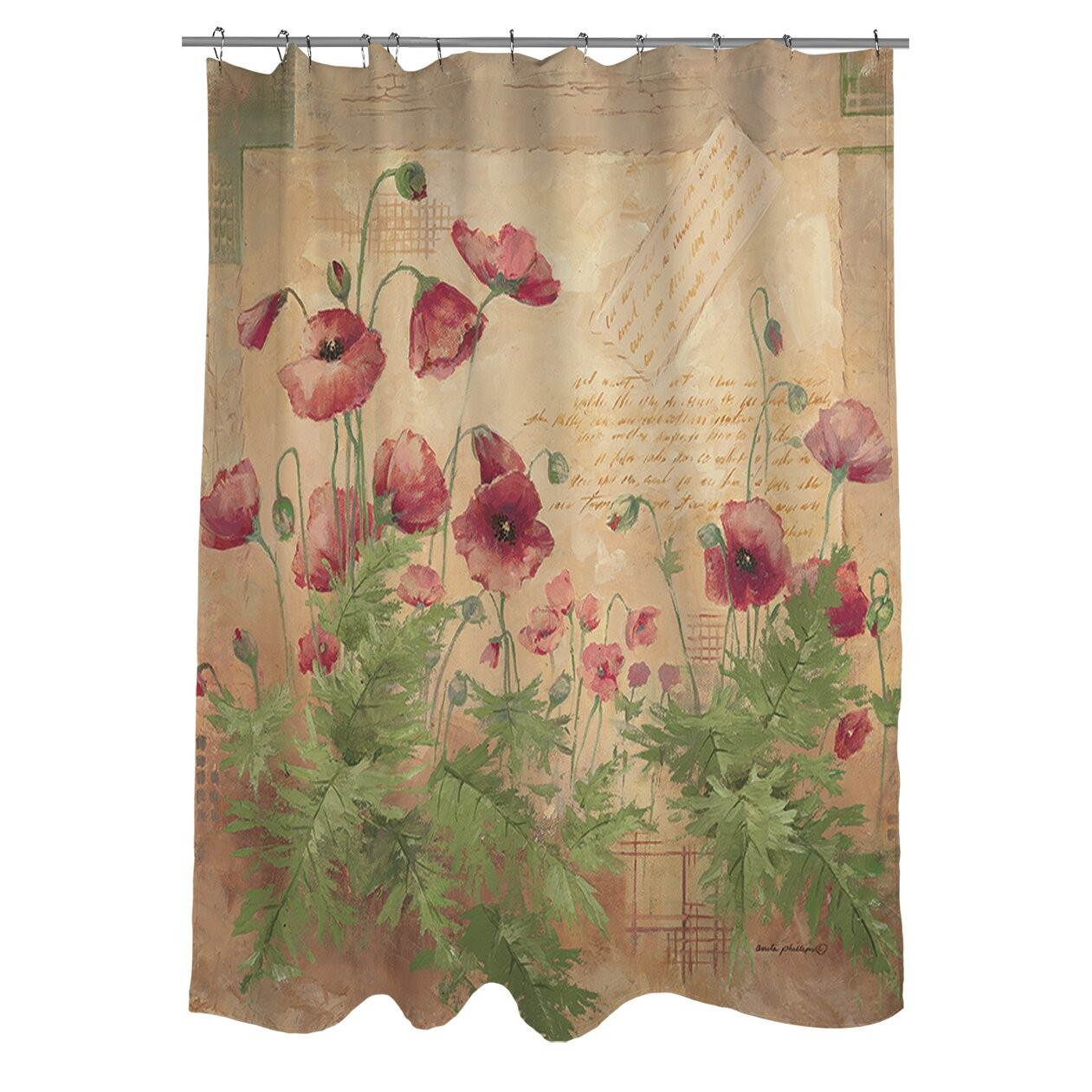 Manual Woodworkers Amp Weavers Floral I Shower Curtain