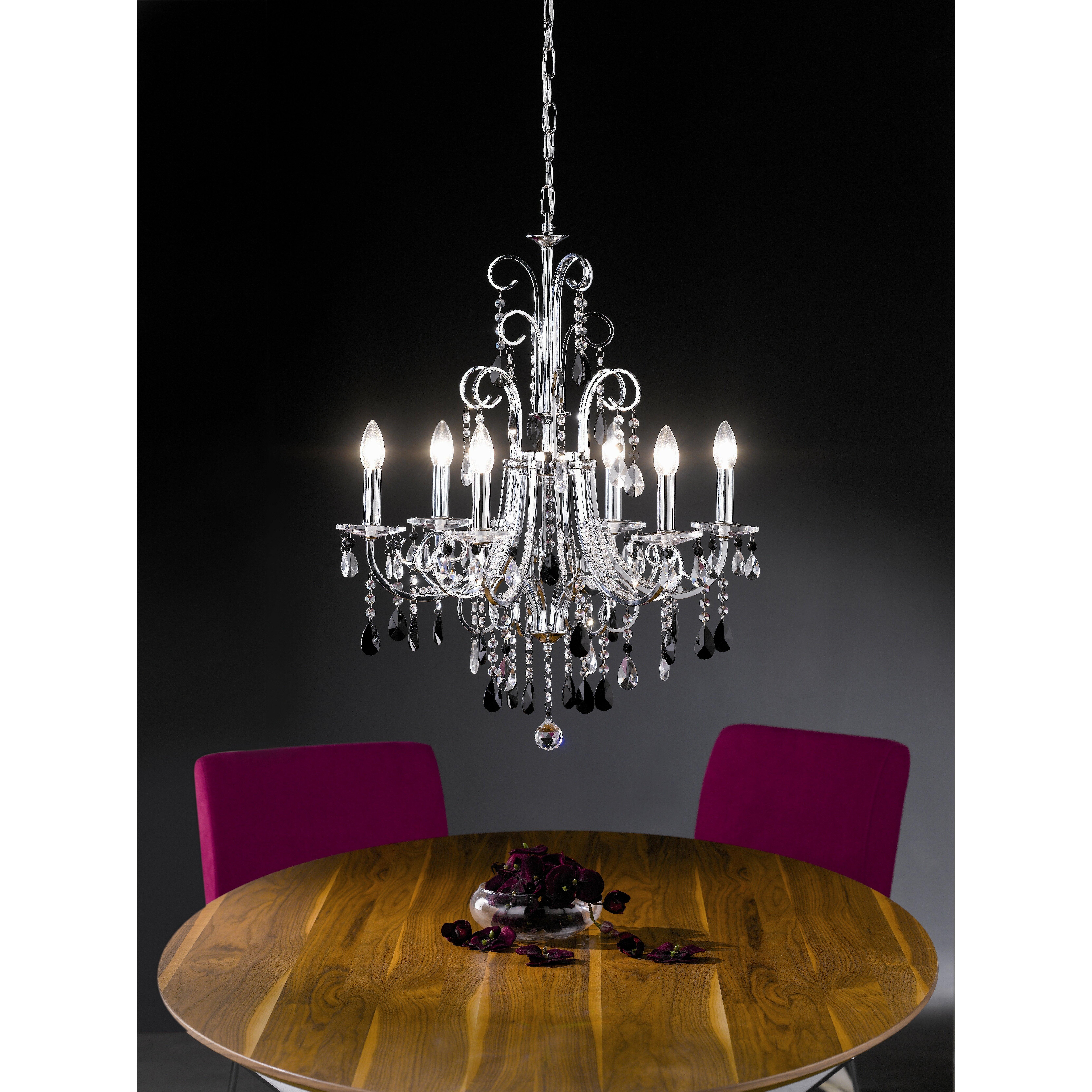 paul neuhaus gracia 6 light crystal chandelier reviews wayfair uk. Black Bedroom Furniture Sets. Home Design Ideas