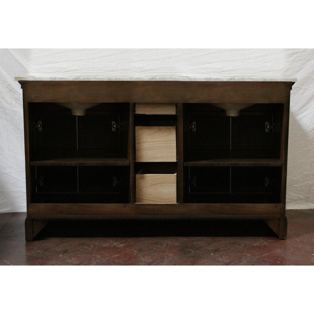 "Legion Furniture 60"" Double Bathroom Vanity & Reviews"
