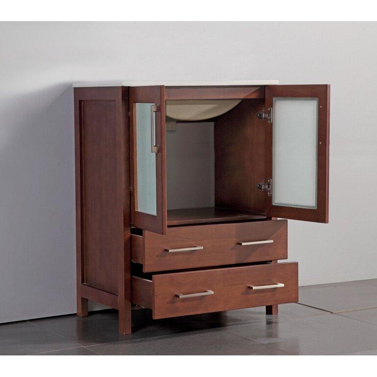 Legion Furniture 24 Single Bathroom Vanity Set With Mirror Reviews Wayfair Supply